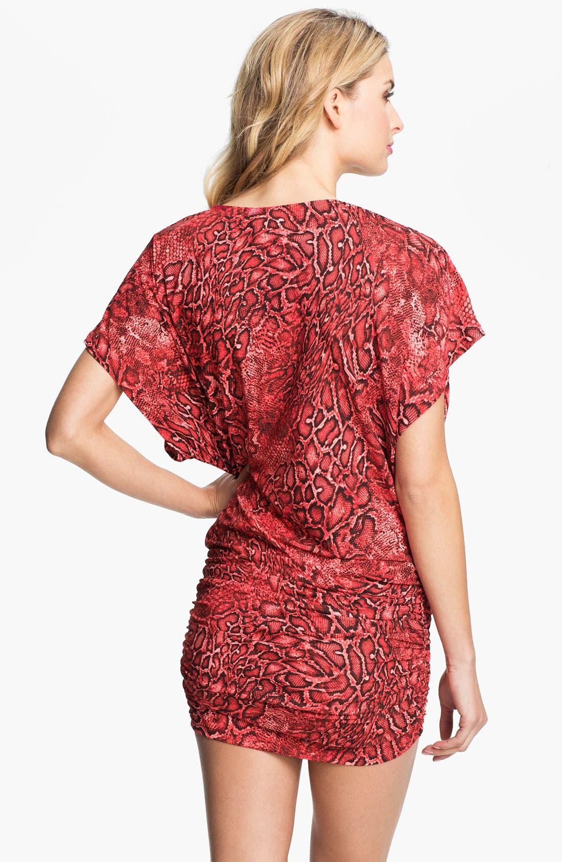 Alternate Image 2  - Carmen Marc Valvo Kimono Sleeve Tunic Cover-Up