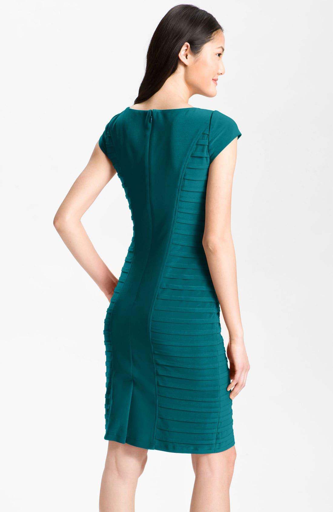 Alternate Image 2  - Adrianna Papell Pleat Panel Jersey Sheath Dress