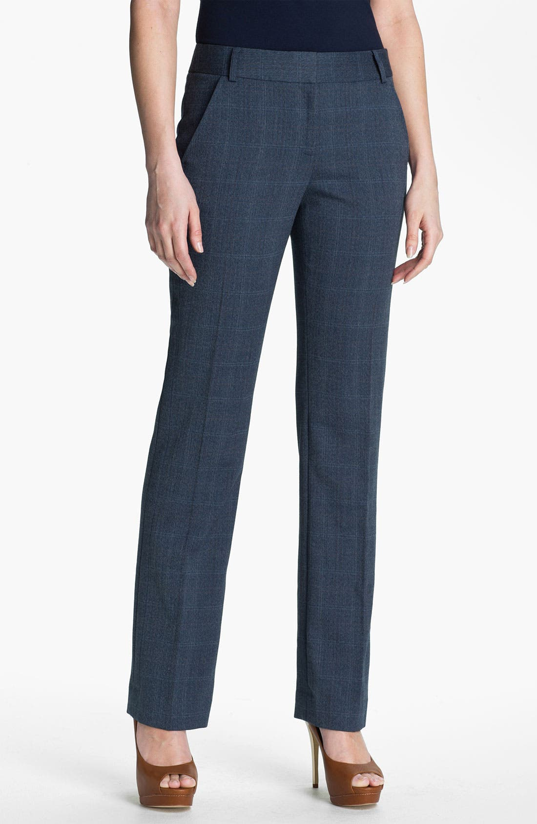 Main Image - Anne Klein Patterned Menswear Pants