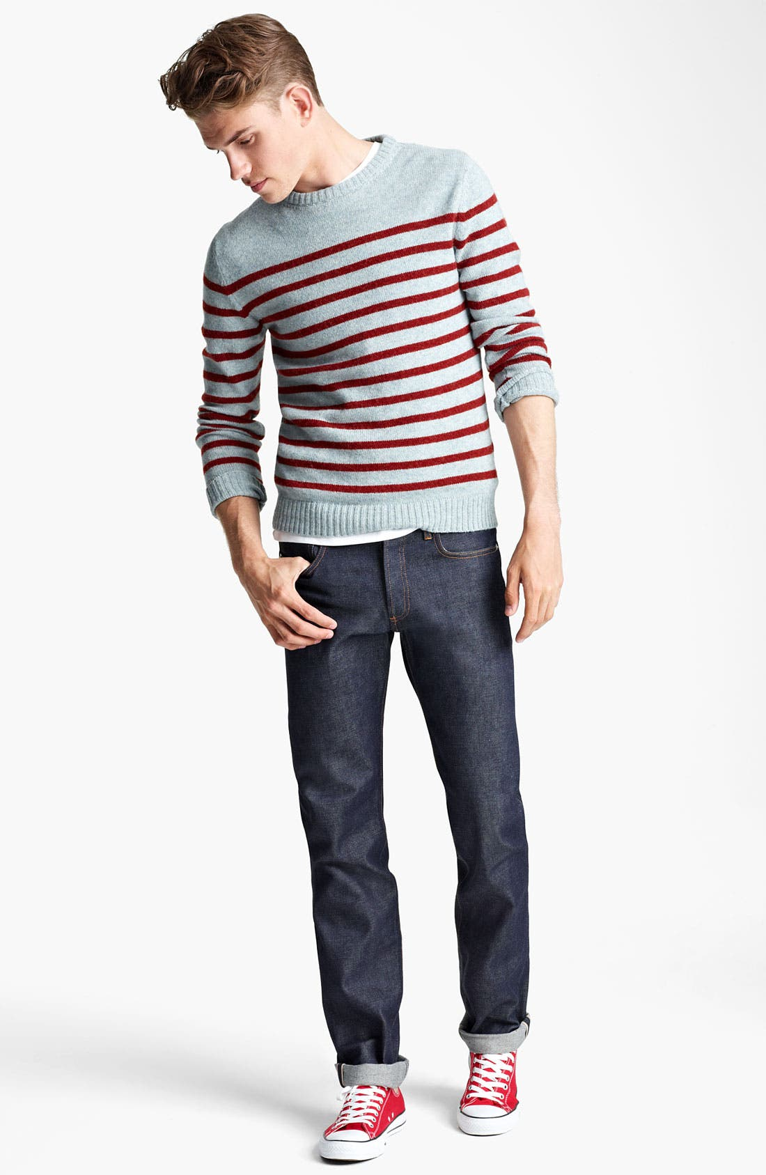Alternate Image 4  - A.P.C. Stripe Crewneck Sweater