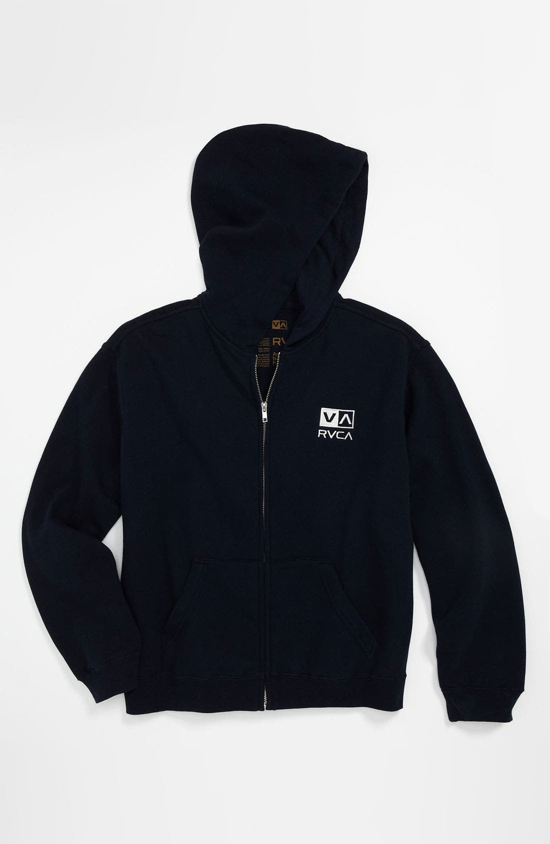Alternate Image 1 Selected - RVCA 'VA Little' Zip Hoodie (Big Boys)