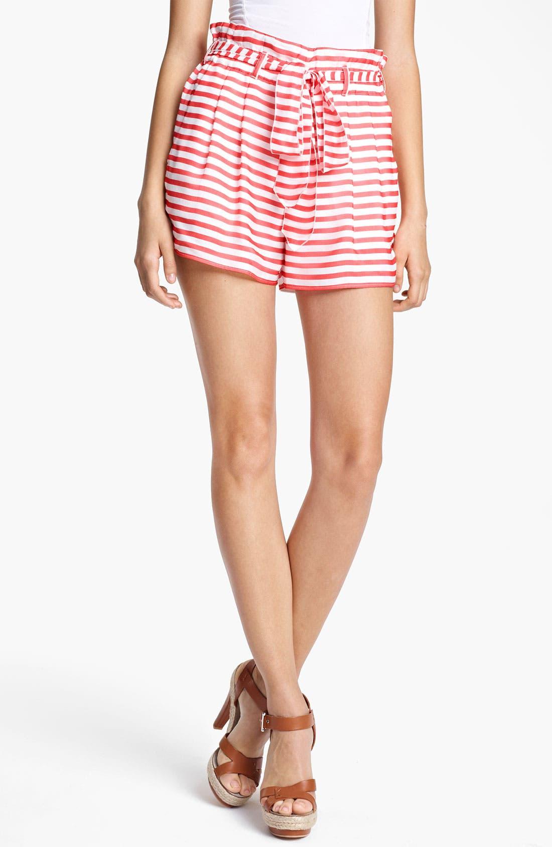 Alternate Image 1 Selected - Armani Collezioni Nautical Stripe Shorts