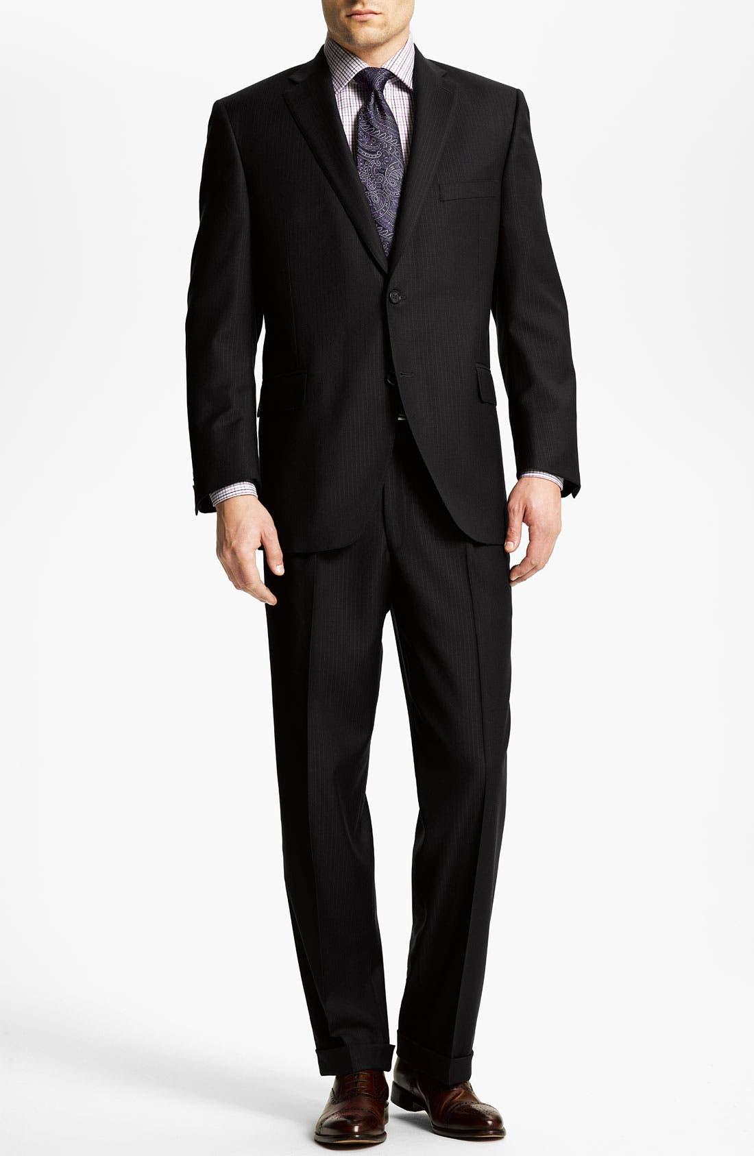Alternate Image 2  - Peter Millar Stripe Wool Suit