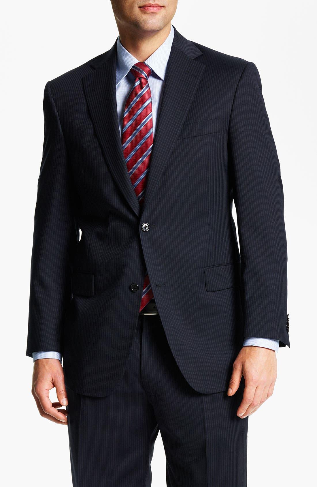 Alternate Image 1 Selected - Hart Schaffner Marx Stripe Suit