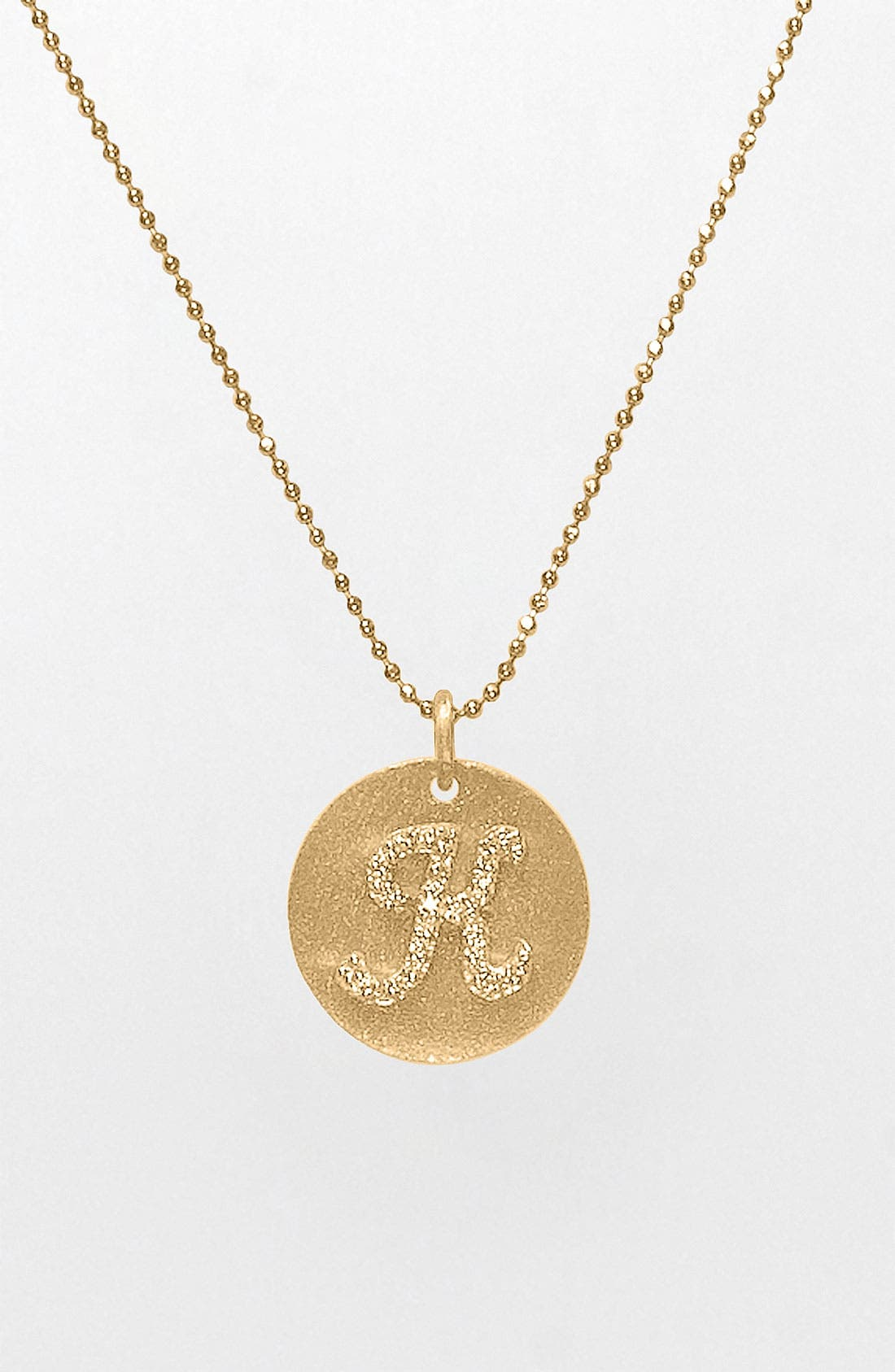 Main Image - Bony Levy Diamond Initial Pendant Necklace (Nordstrom Exclusive)