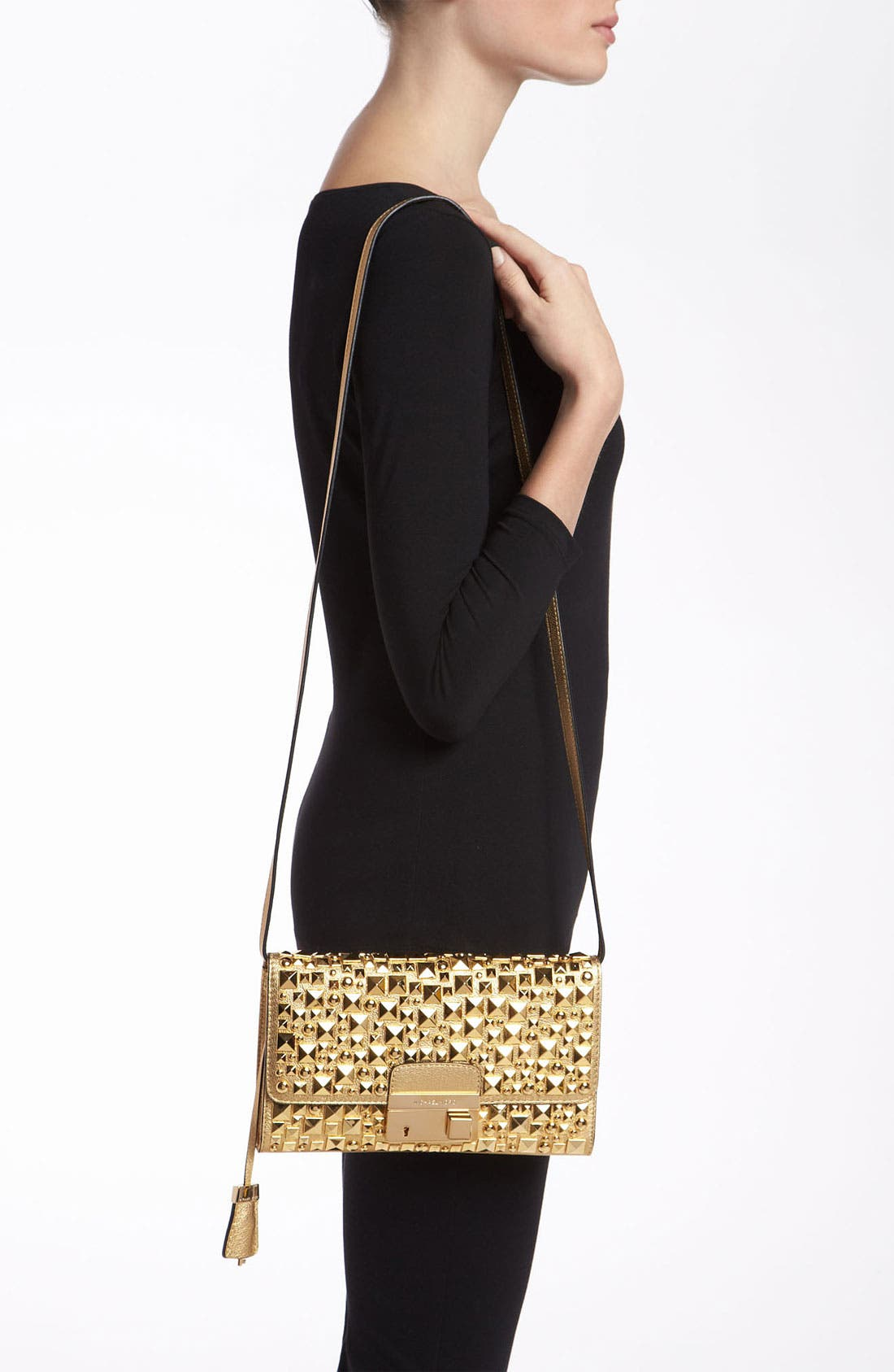Alternate Image 2  - Michael Kors 'Gia' Studded Leather Clutch