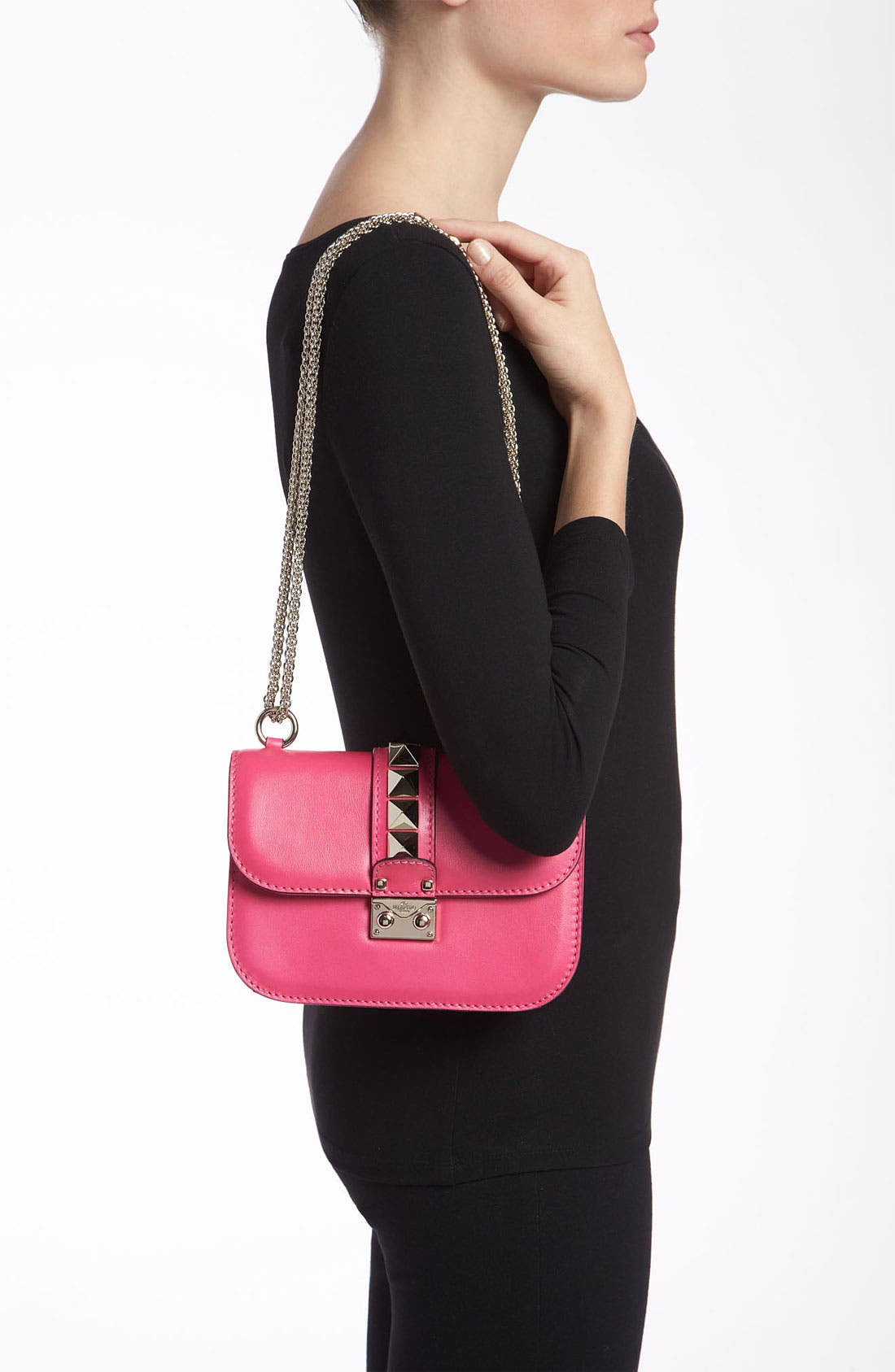 Alternate Image 2  - Valentino 'Lock - Small' Leather Flap Bag