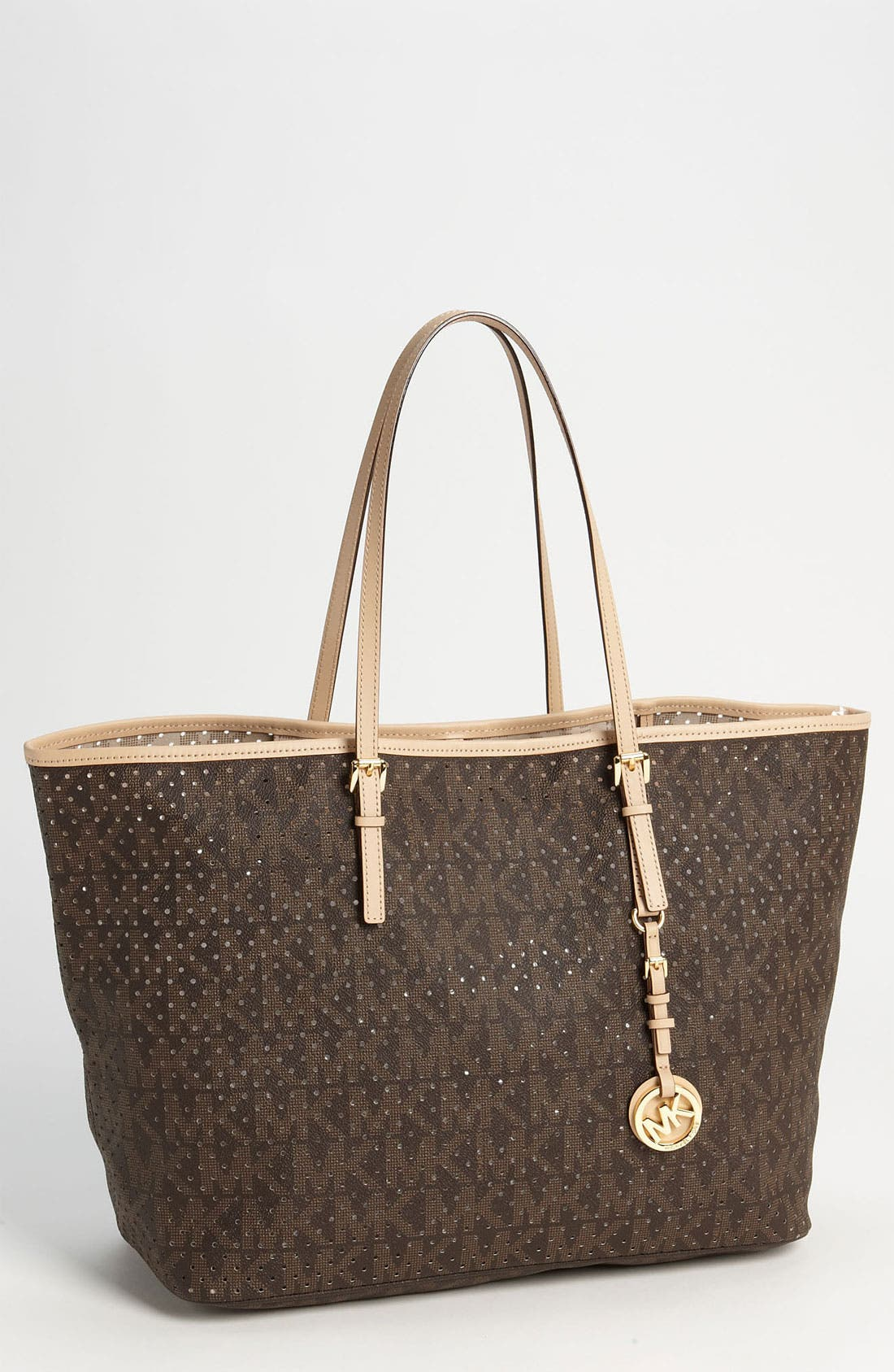 Main Image - MICHAEL Michael Kors 'Signature - Medium' Perforated Tote