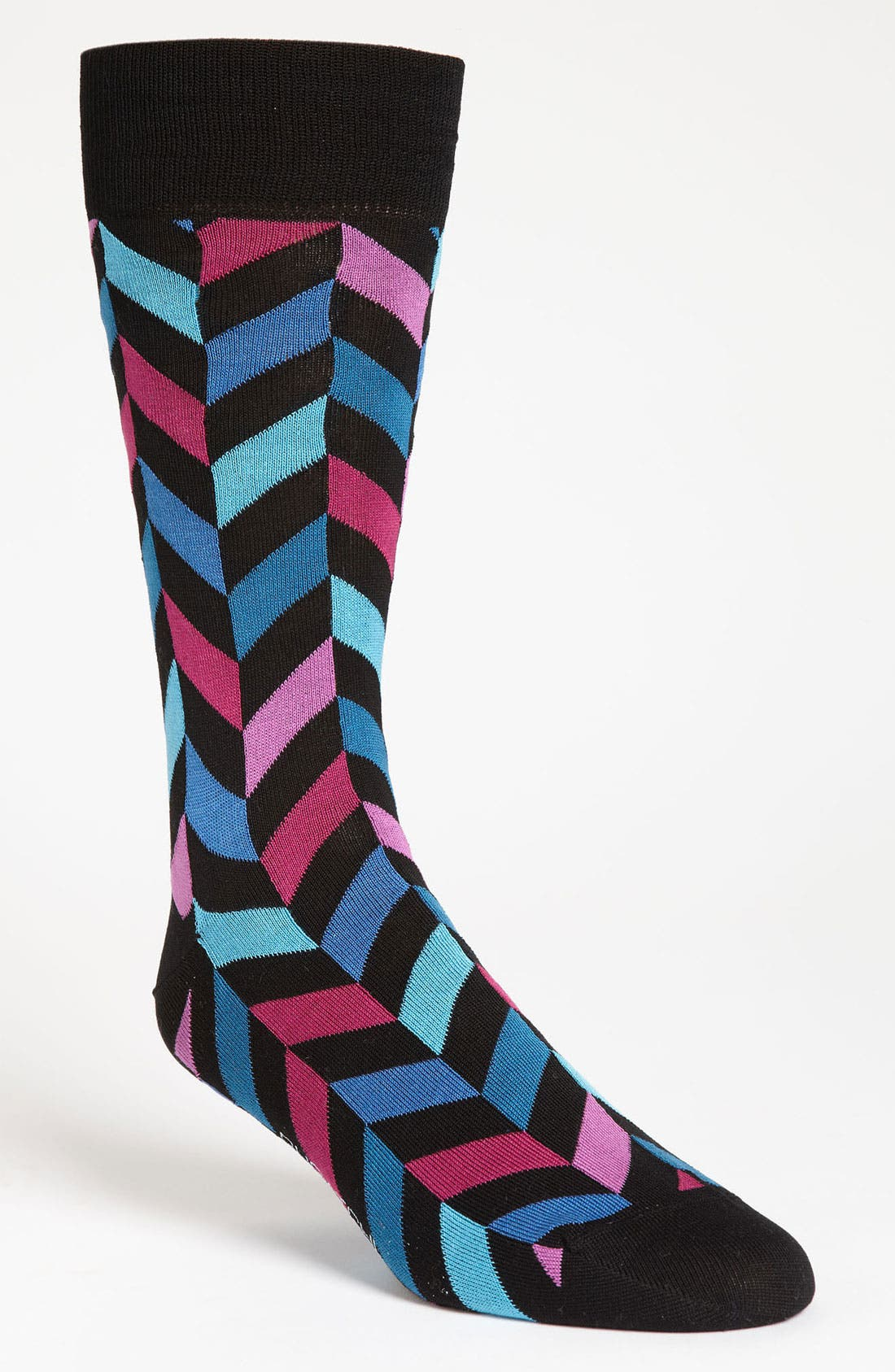 Alternate Image 1 Selected - Bugatchi Uomo Herringbone Socks