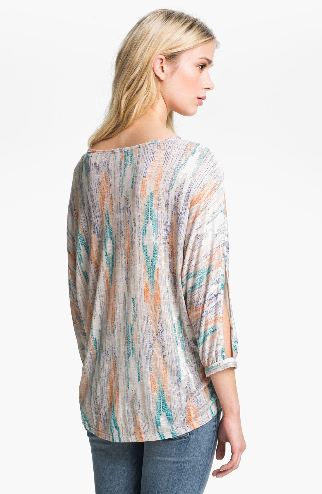 Alternate Image 2  - Ella Moss 'Santa Fe' Split Sleeve Print Top