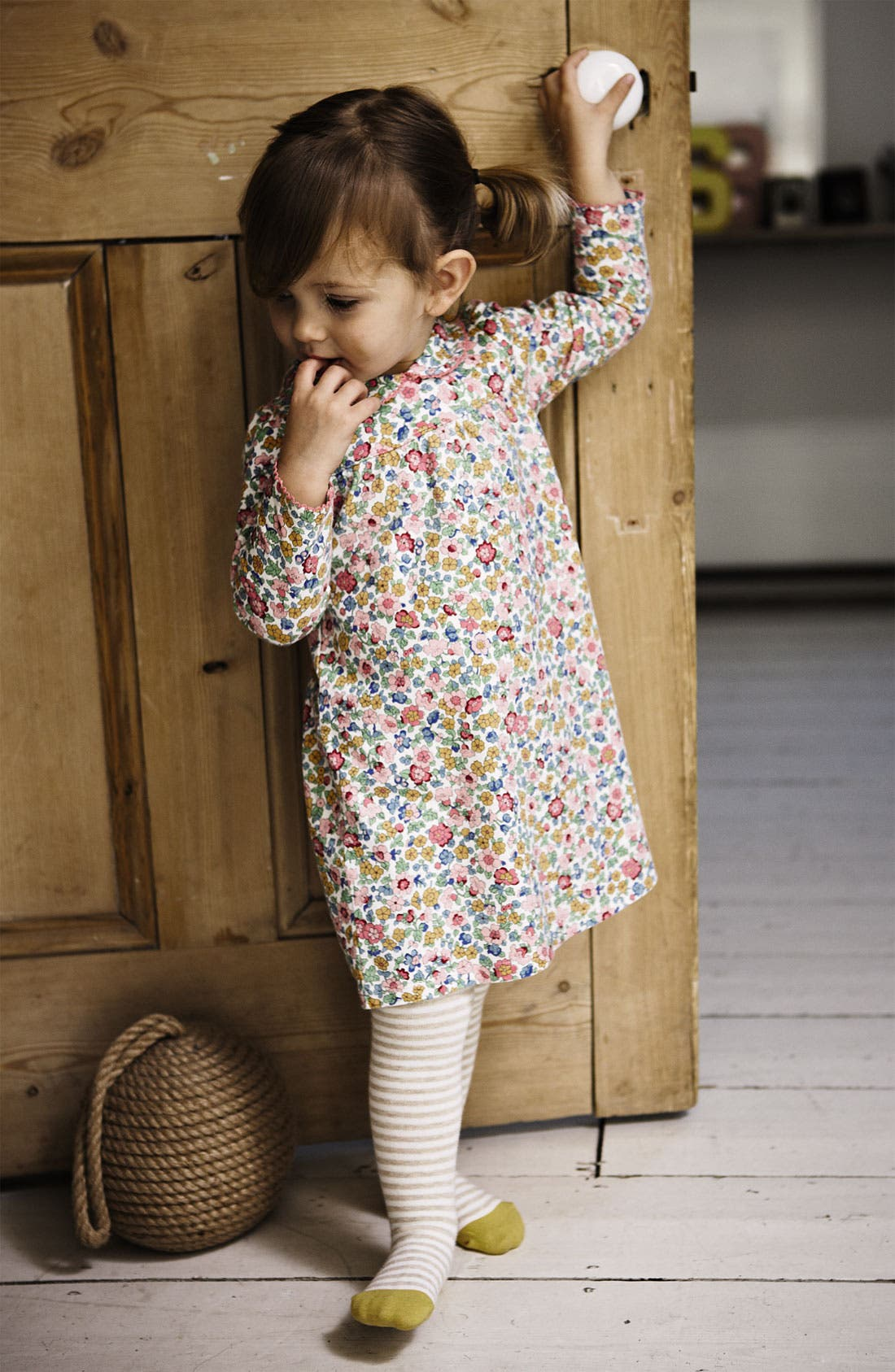 Alternate Image 2  - Mini Boden 'Pretty' Jersey Dress & Bloomers (Baby)