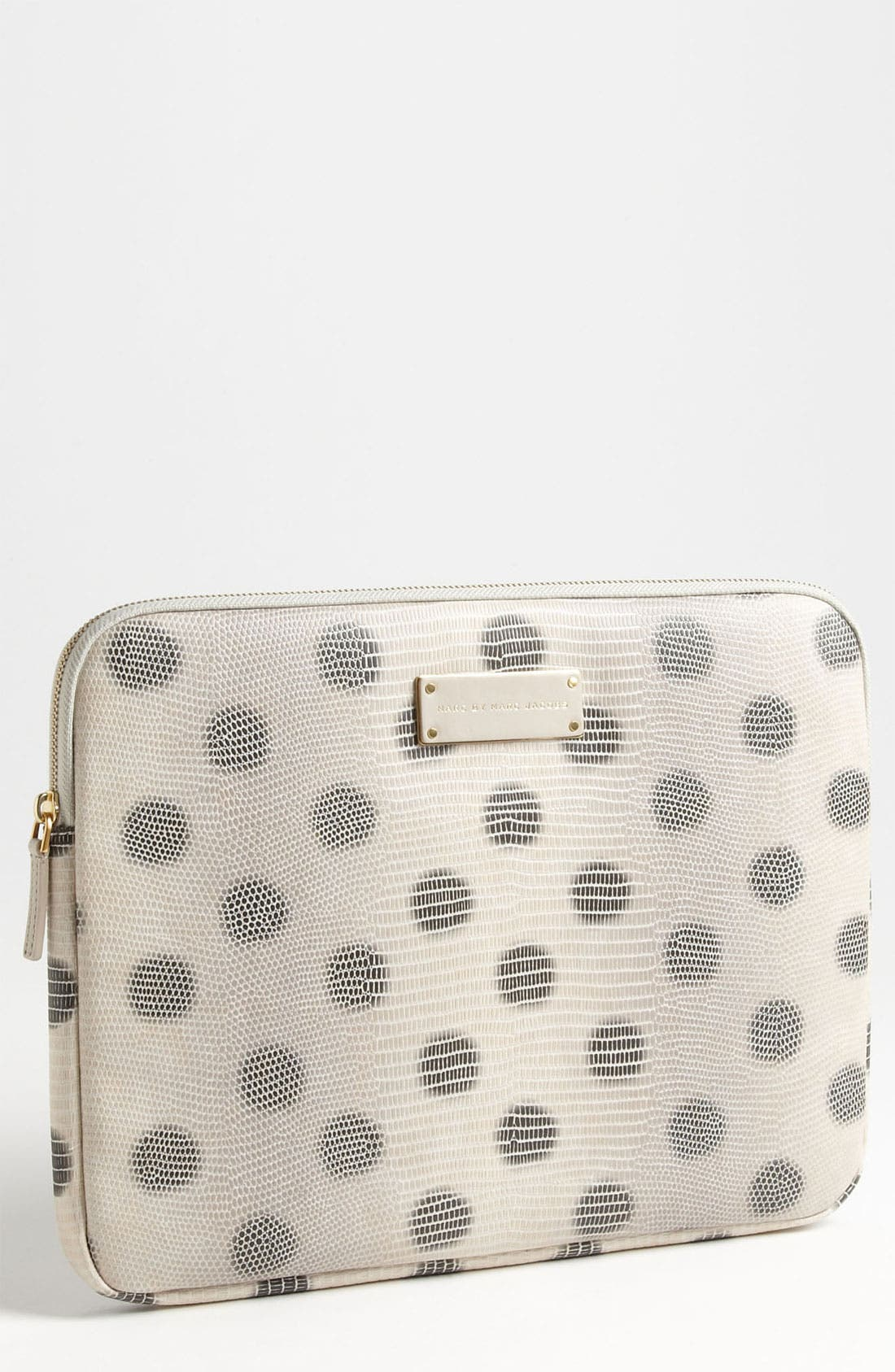 Main Image - MARC BY MARC JACOBS 'Take Me - Lizzie Dots' Embossed Computer Sleeve (13 Inch)
