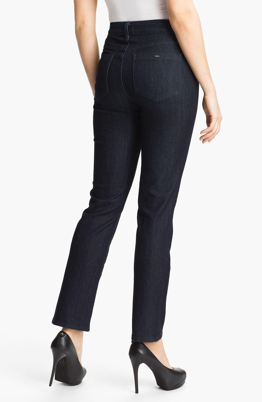 Alternate Image 2  - NYDJ 'Sheri' Neon Stitch Skinny Stretch Jeans
