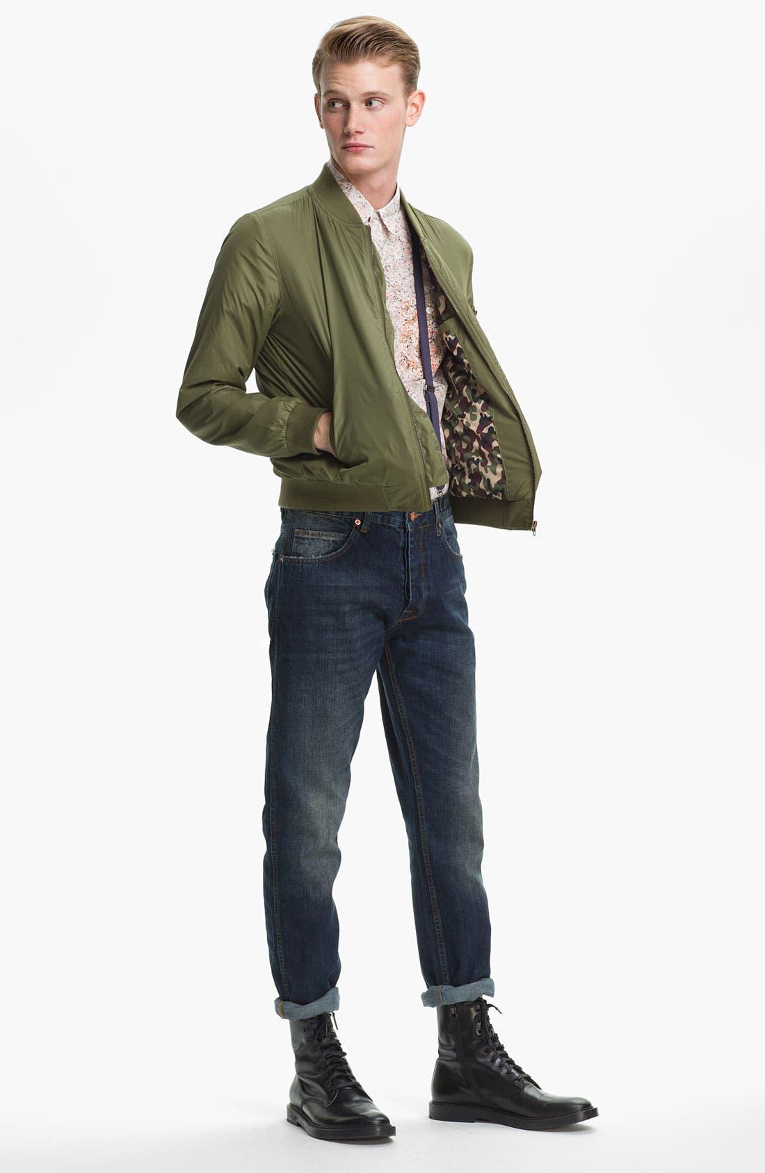 Alternate Image 5  - Topman Slim Fit Jeans (Indigo)