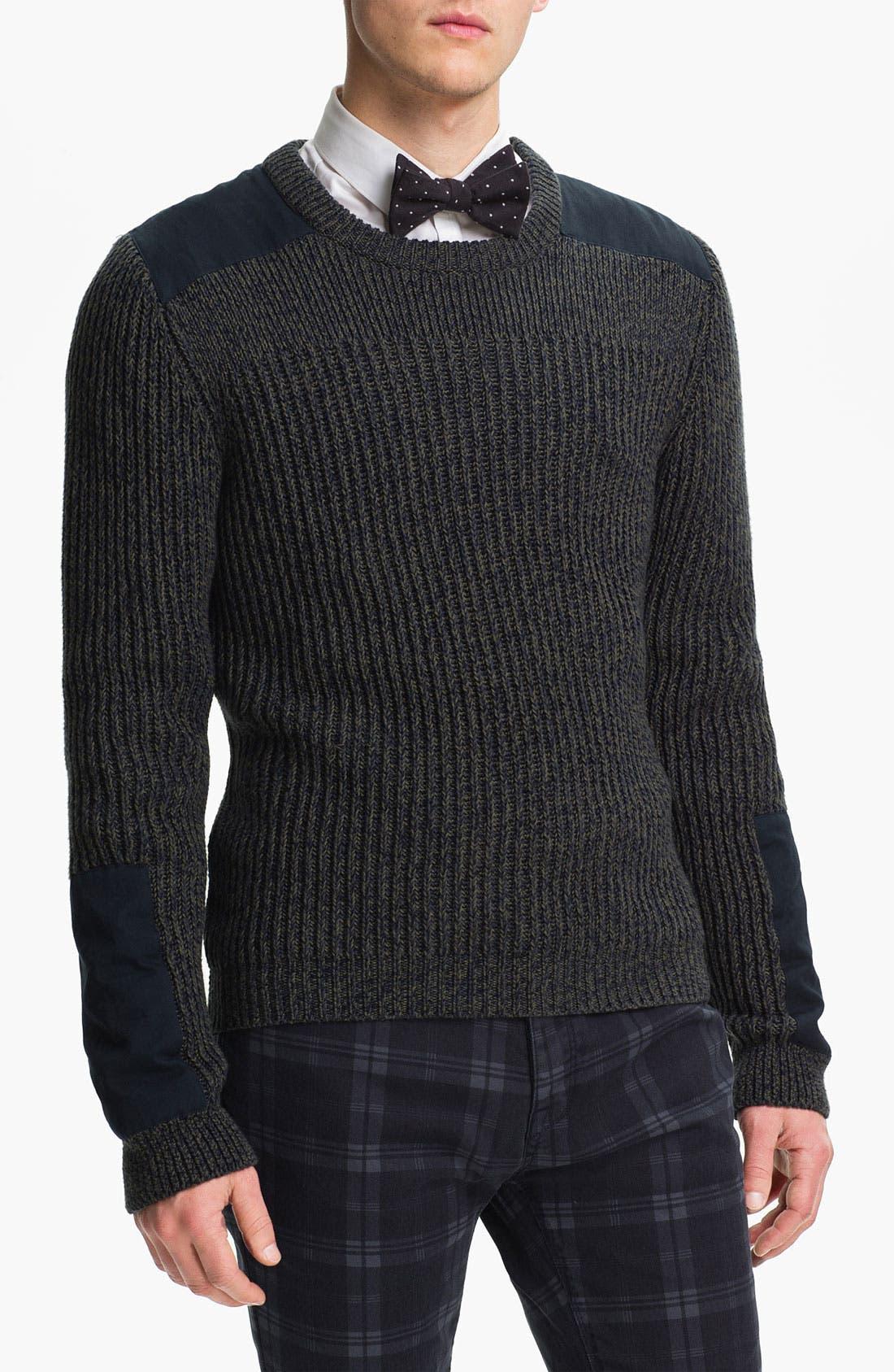 Alternate Image 1 Selected - Topman Military Crewneck Sweater