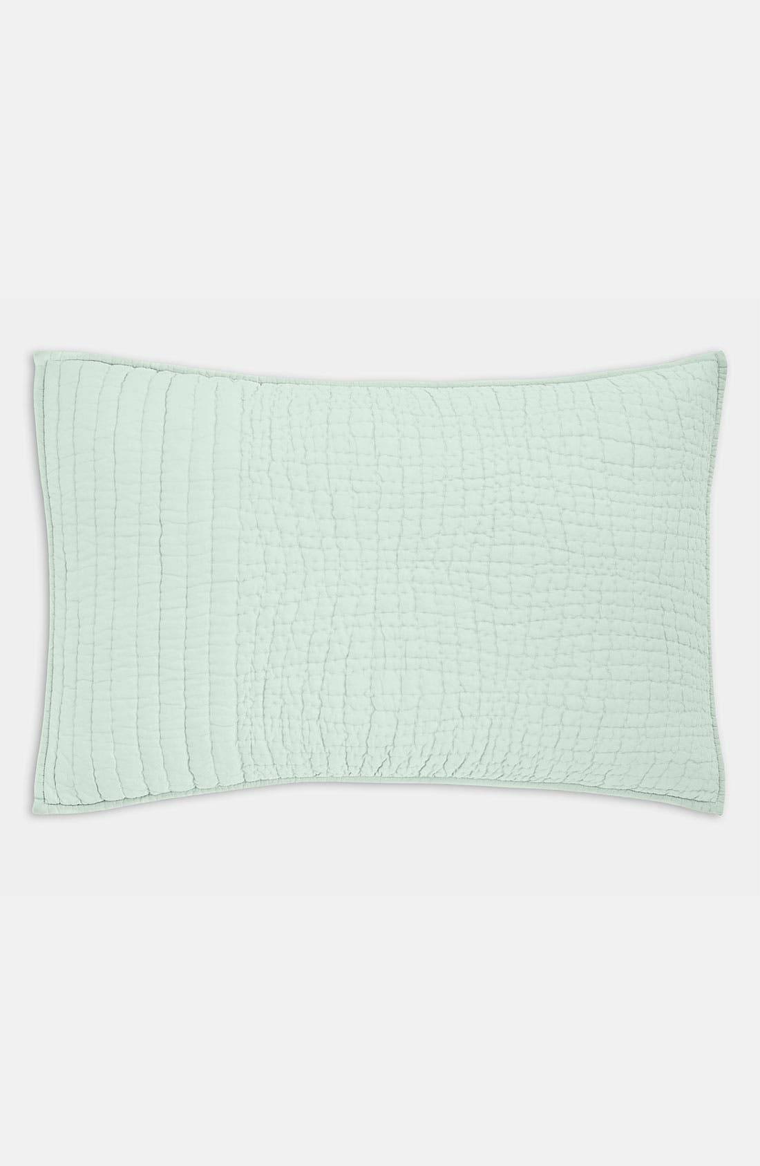 Main Image - Donna Karan Puckered Stitch Pillow Sham