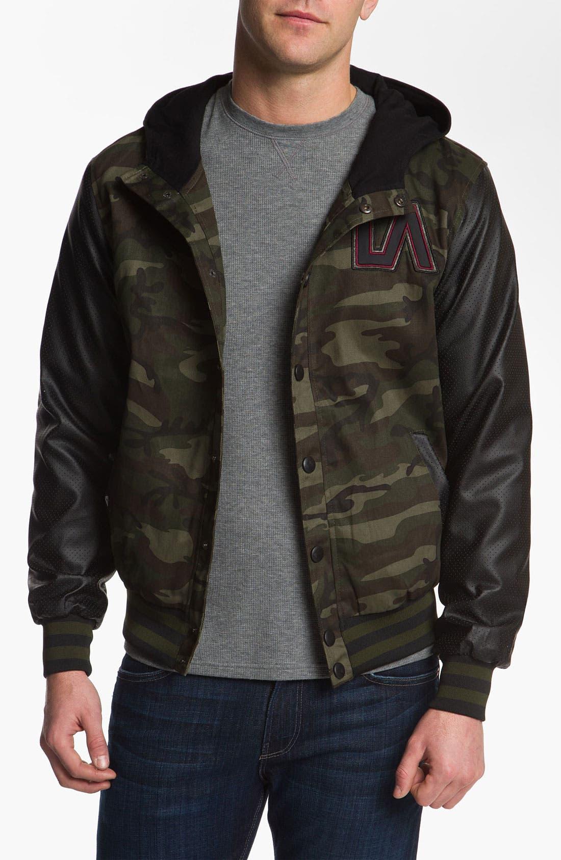 Alternate Image 1 Selected - Lira Clothing Cotton Varsity Jacket