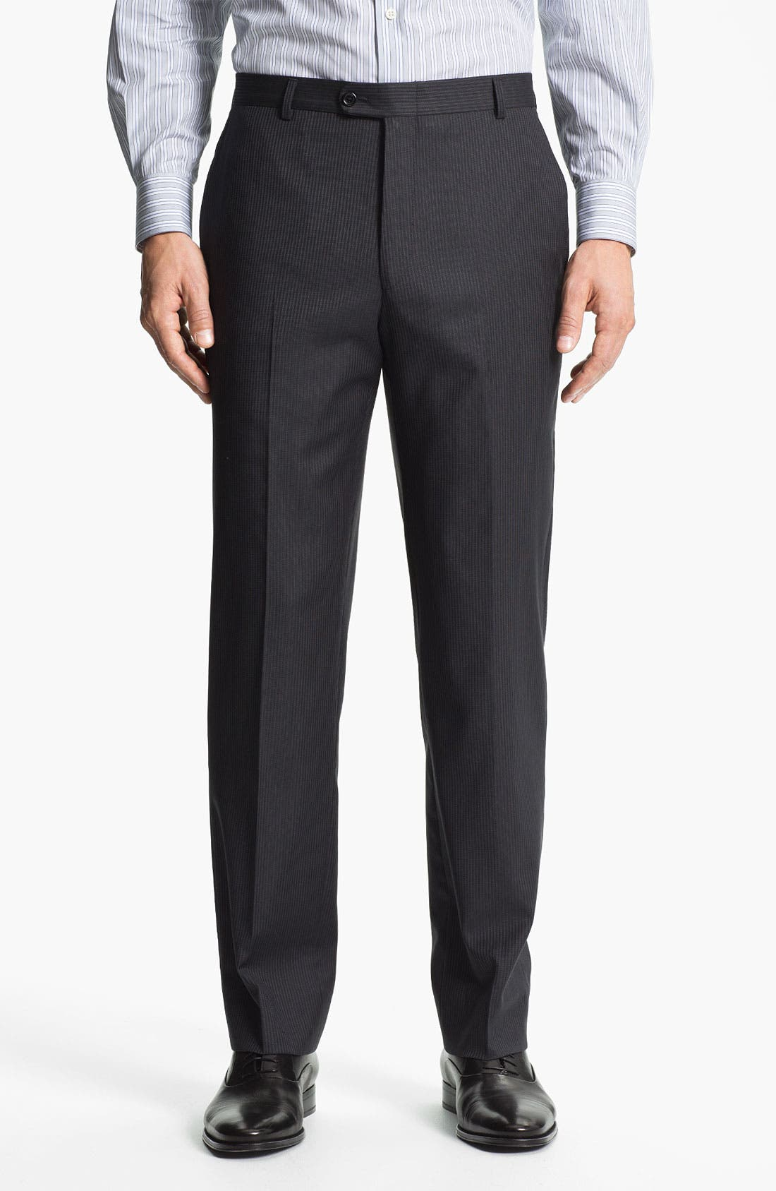 Alternate Image 4  - Hickey Freeman 'Beacon' Stripe Wool Suit