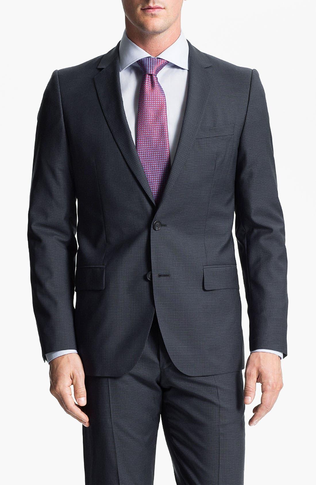 Alternate Image 1 Selected - HUGO 'Amaro/Heise' Trim Fit Suit