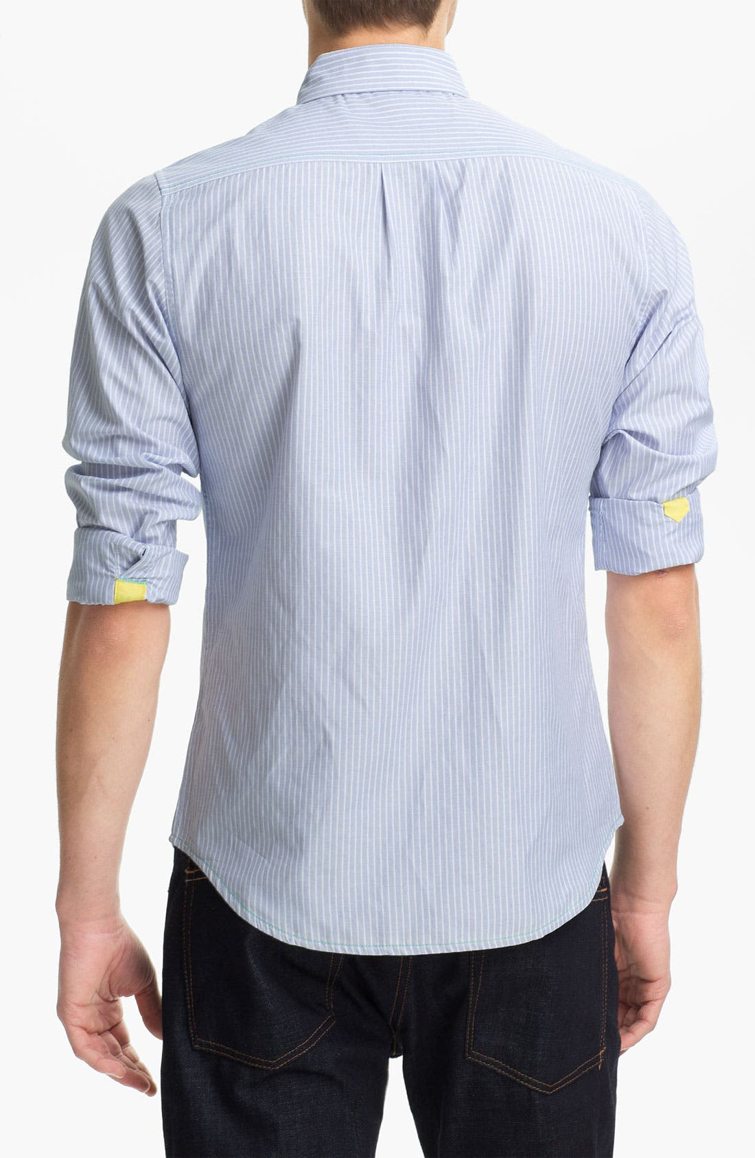 Alternate Image 2  - Descendant of Thieves Stripe Woven Shirt