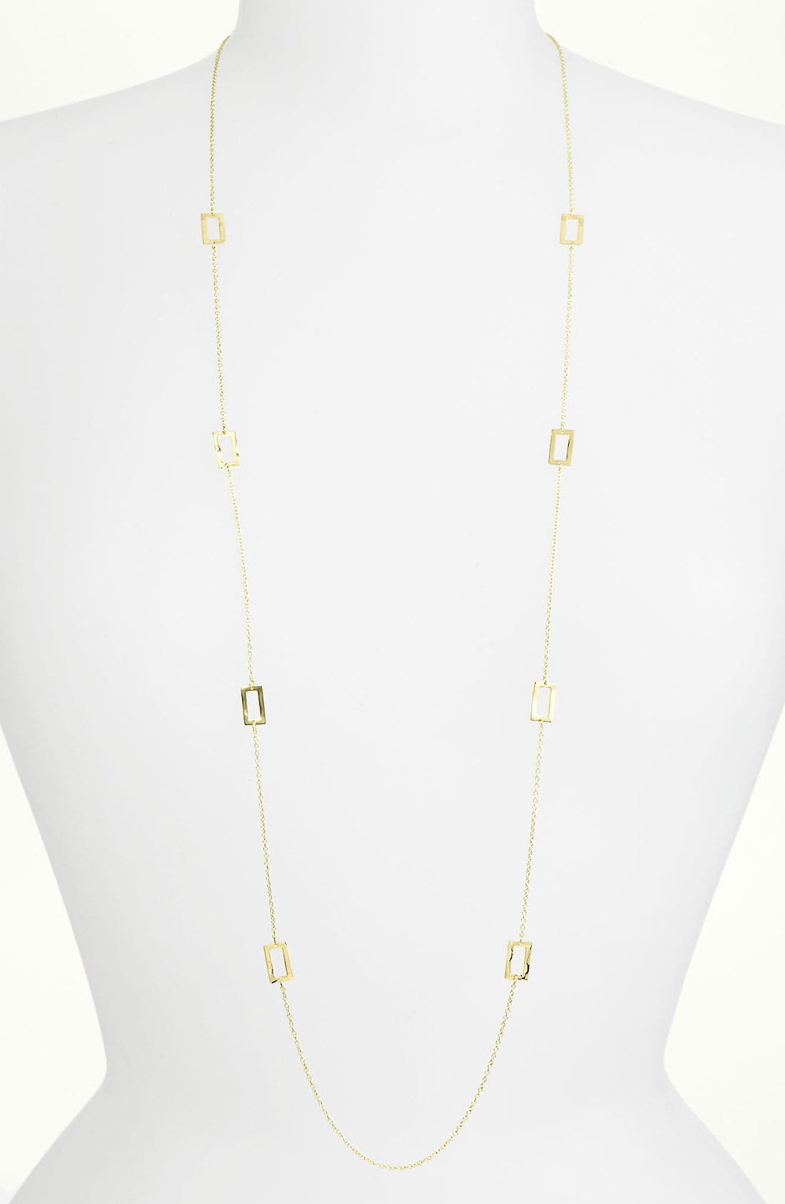 Main Image - Ippolita 'Plain' Long Rectangle Station 18k Gold Necklace
