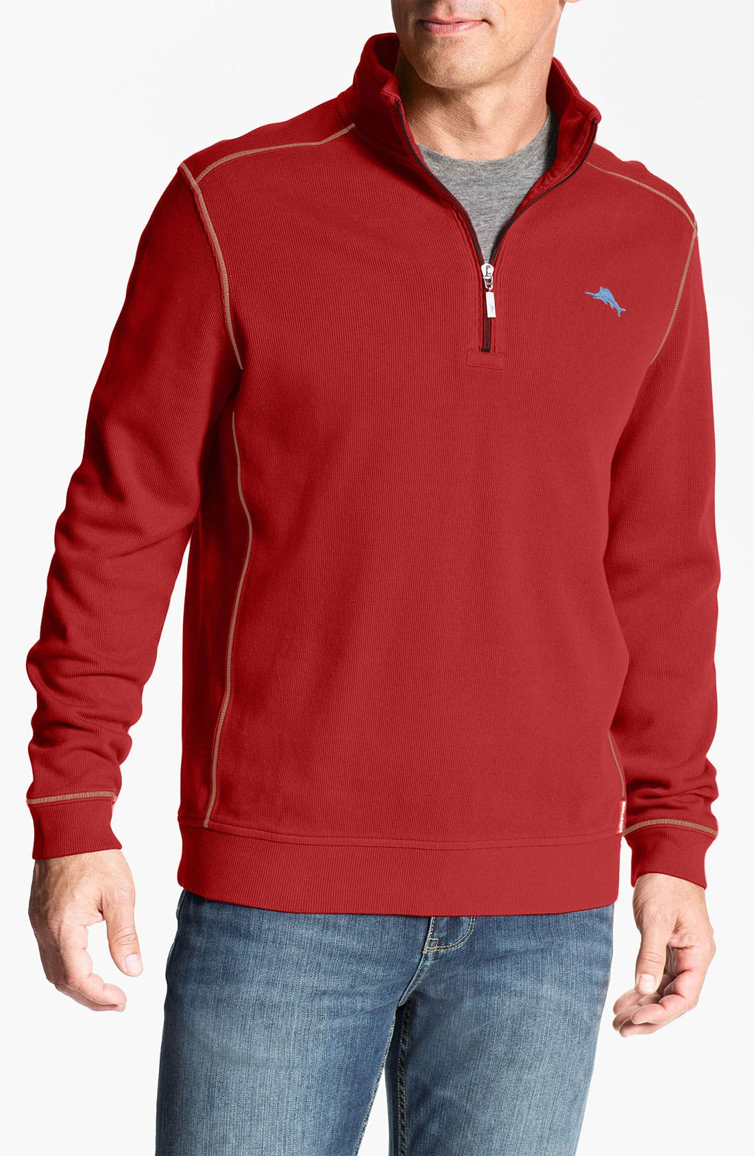 Alternate Image 1 Selected - Tommy Bahama 'Antigua Cove' Half Zip Pullover