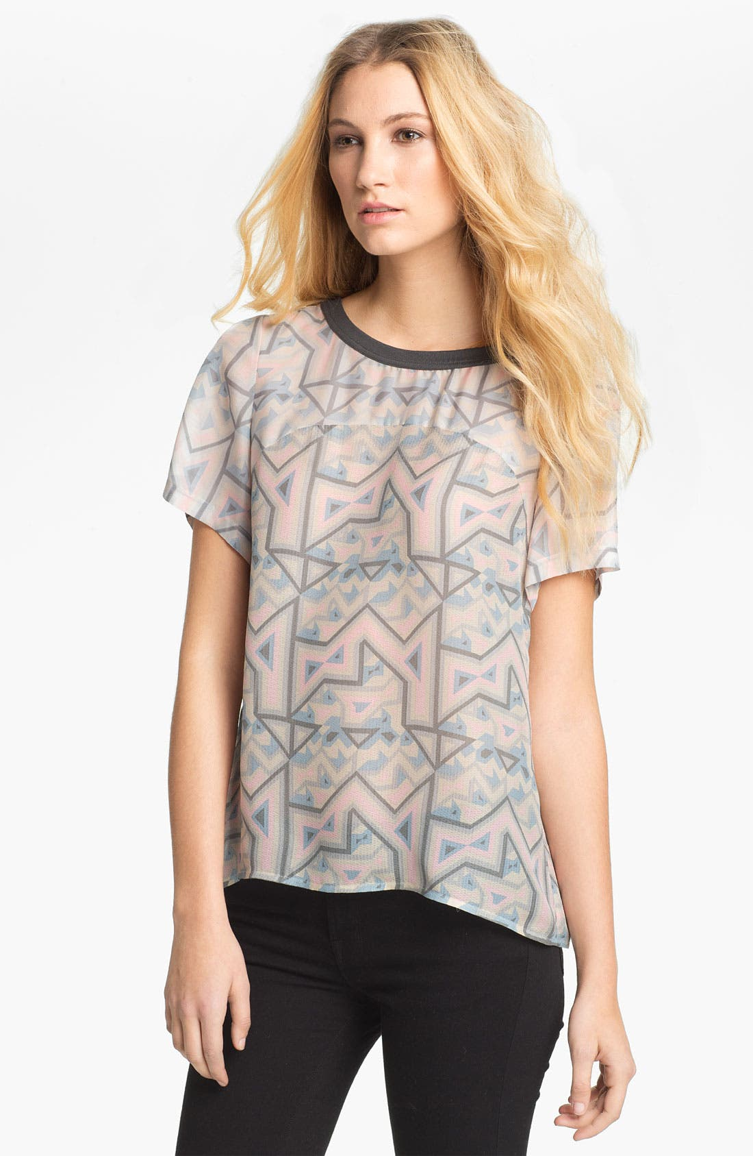 Alternate Image 1 Selected - MARC BY MARC JACOBS 'Geo Maze' Print Top