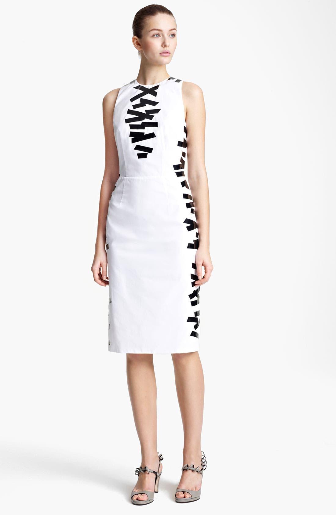Main Image - Christopher Kane Tape Detail Sheath Dress