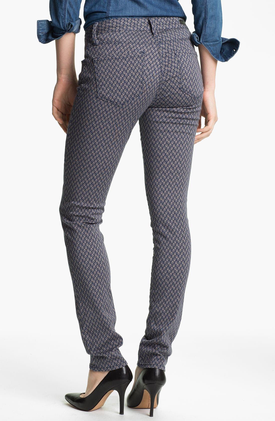 Alternate Image 2  - Mavi Jeans 'Alexa' Geometric Print Skinny Jeans (Online Exclusive)