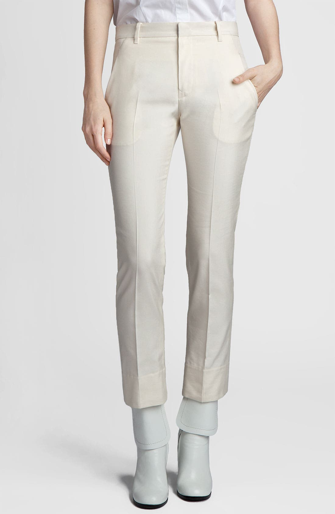Alternate Image 1 Selected - Jil Sander 'Niccolo' Slim Cotton & Silk Pants