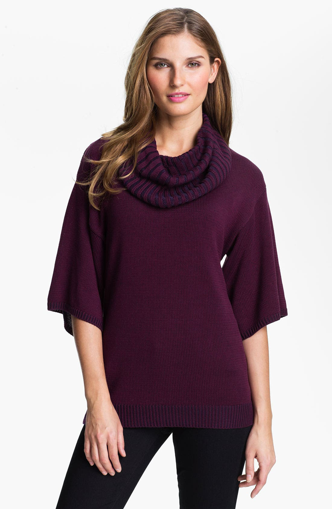 Main Image - Fever Cowl Neck Three Quarter Sleeve Sweater (Online Exclusive)
