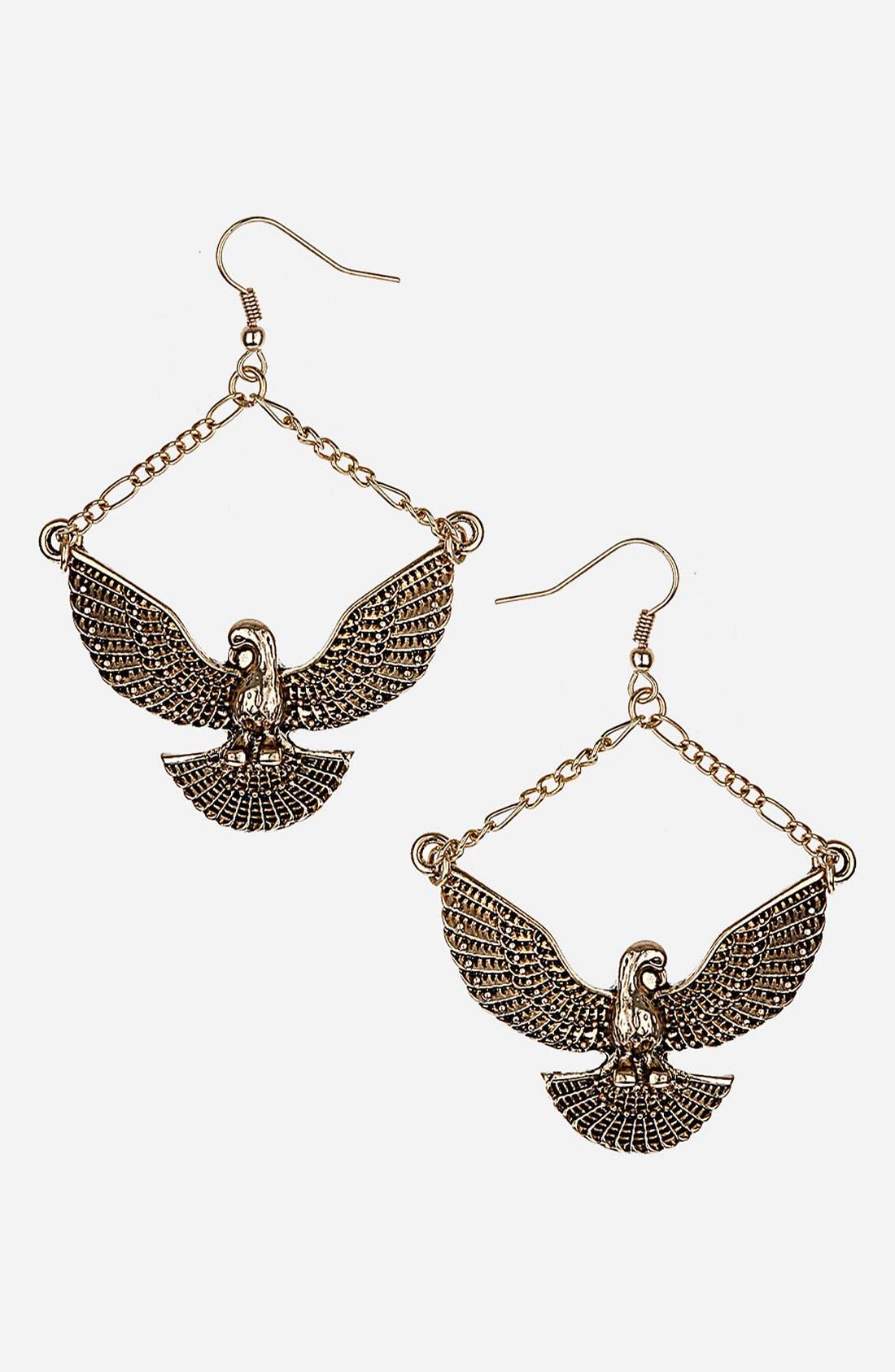 Main Image - Topshop 'Eagle Drop' Earrings