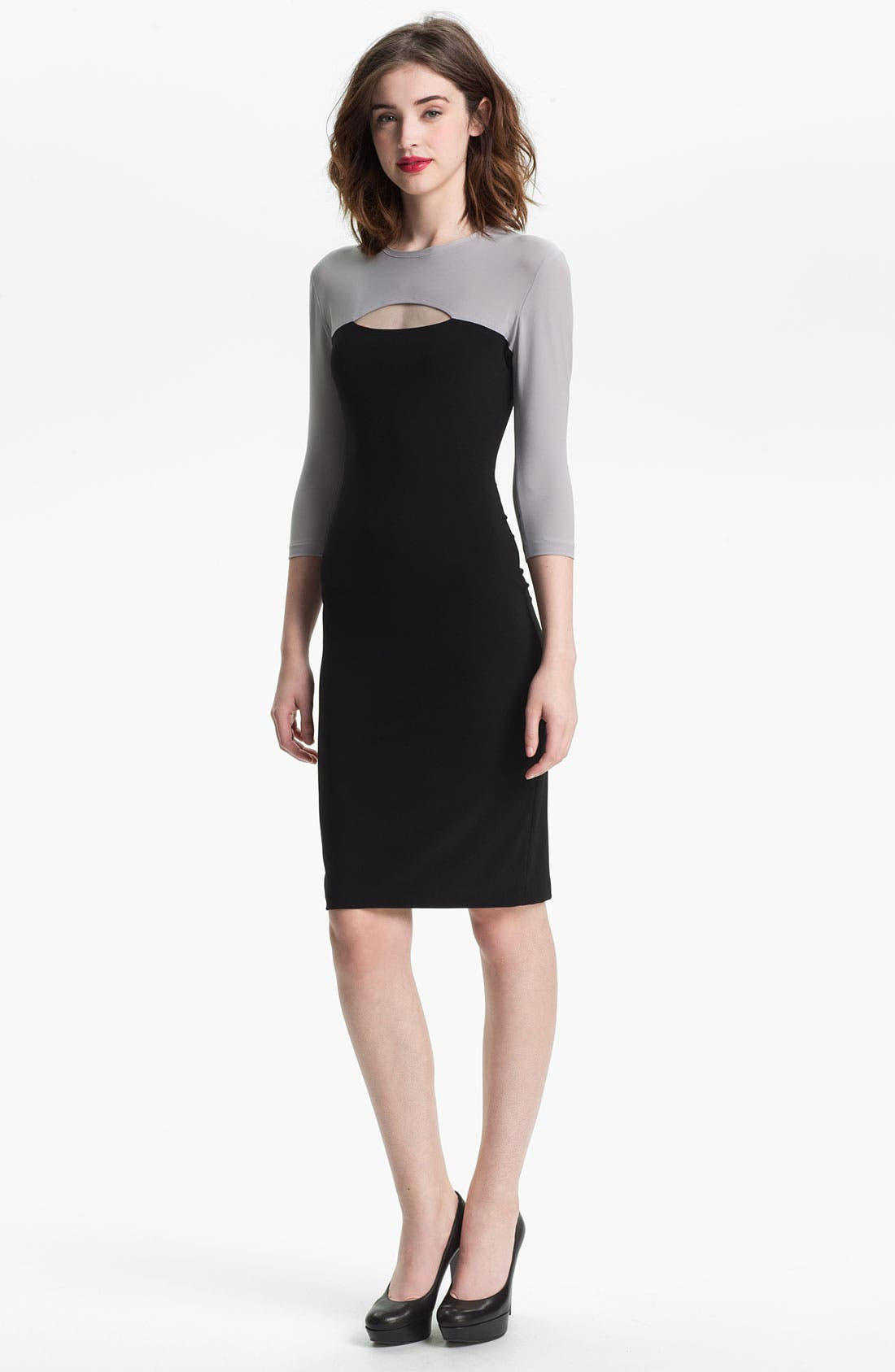 Main Image - KAMALIKULTURE Cutout Detail Jersey Sheath Dress