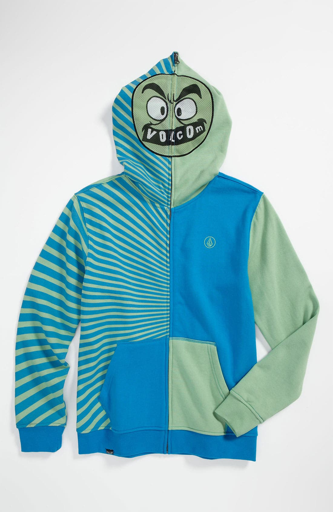 Alternate Image 1 Selected - Volcom 'Mega Circle' Mask Hoodie (Big Boys)
