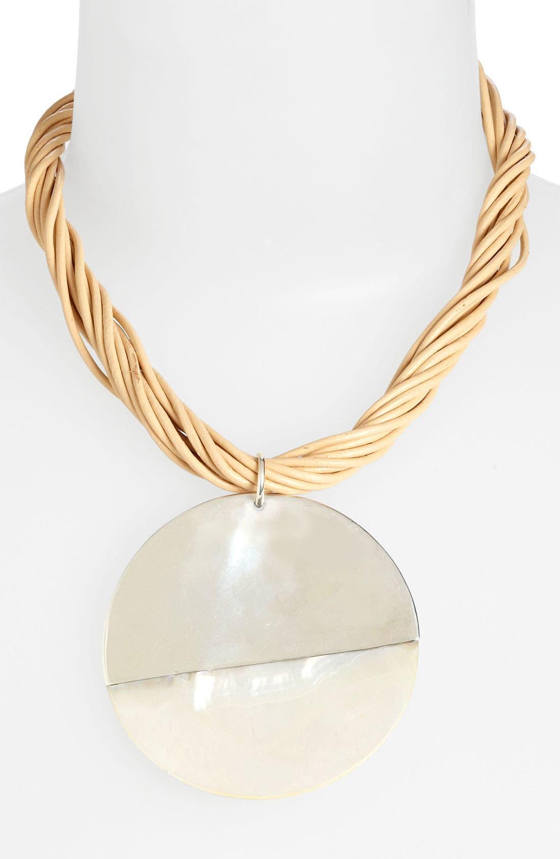 Alternate Image 1 Selected - Simon Sebbag 'Bora Bora' Leather Pendant Necklace