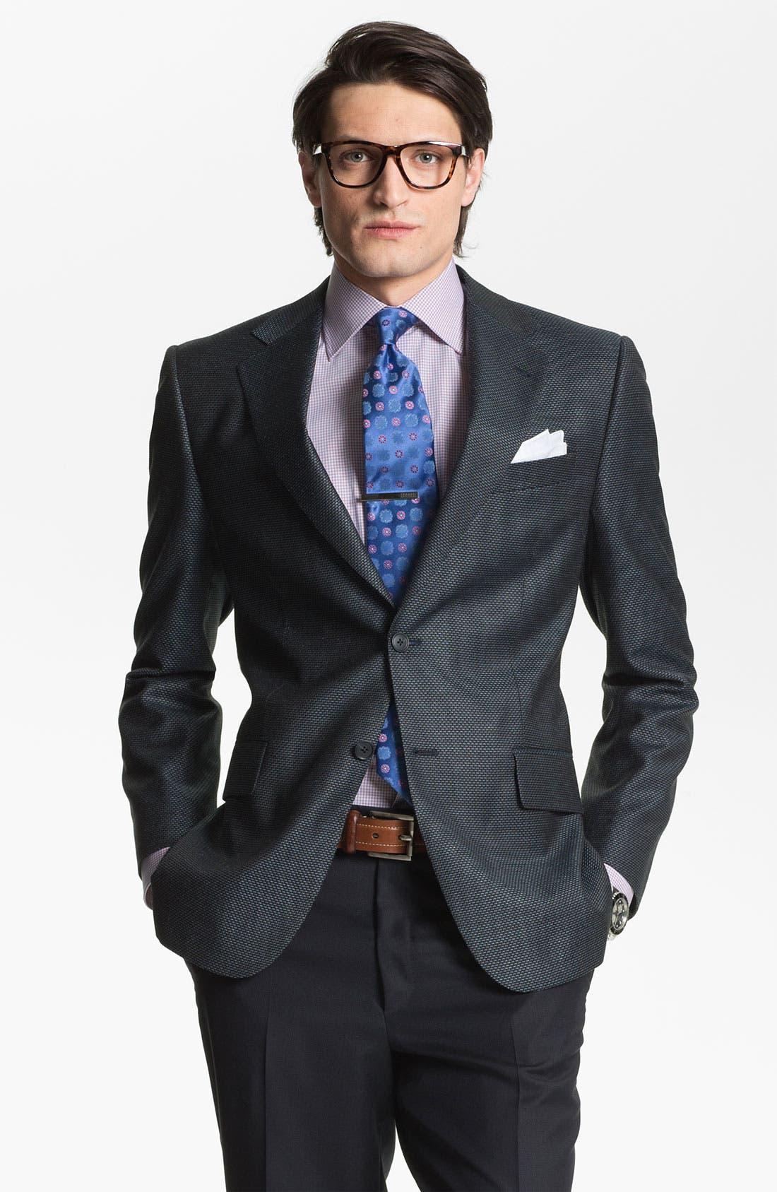 Main Image - Joseph Abboud 'Signature Silver' Wool Blend Blazer