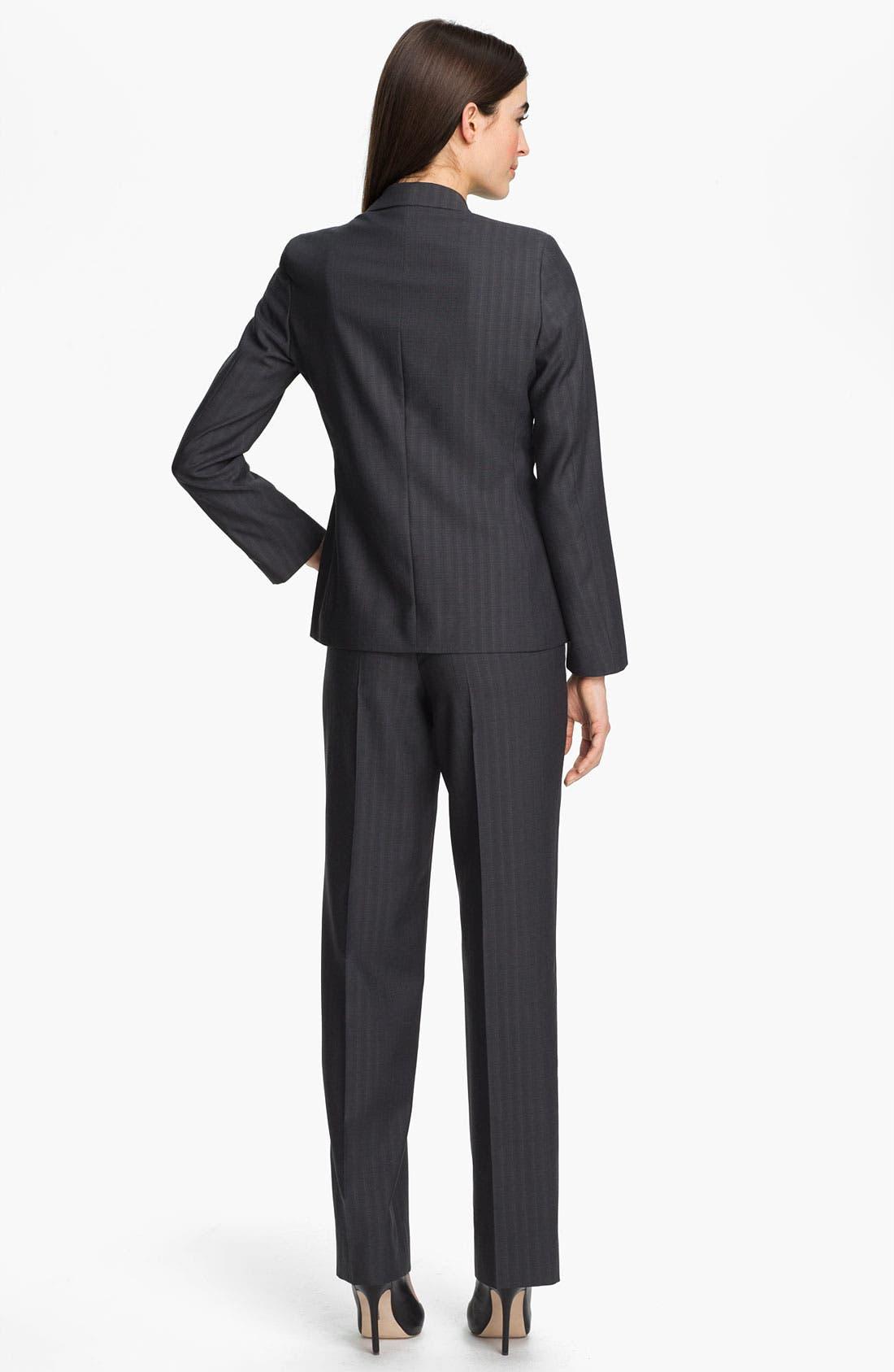 Alternate Image 4  - Zanella 'Goldie' Tonal Stripe Wool Pants