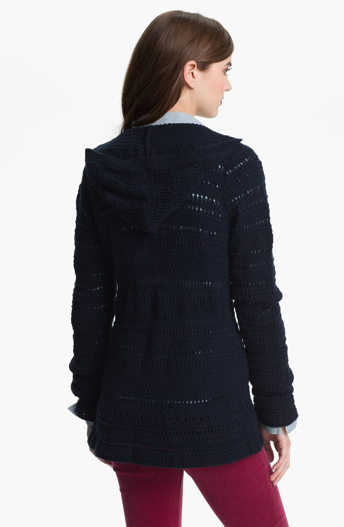 Alternate Image 2  - Lucky Brand Hooded Sweater Jacket (Online Exclusive)