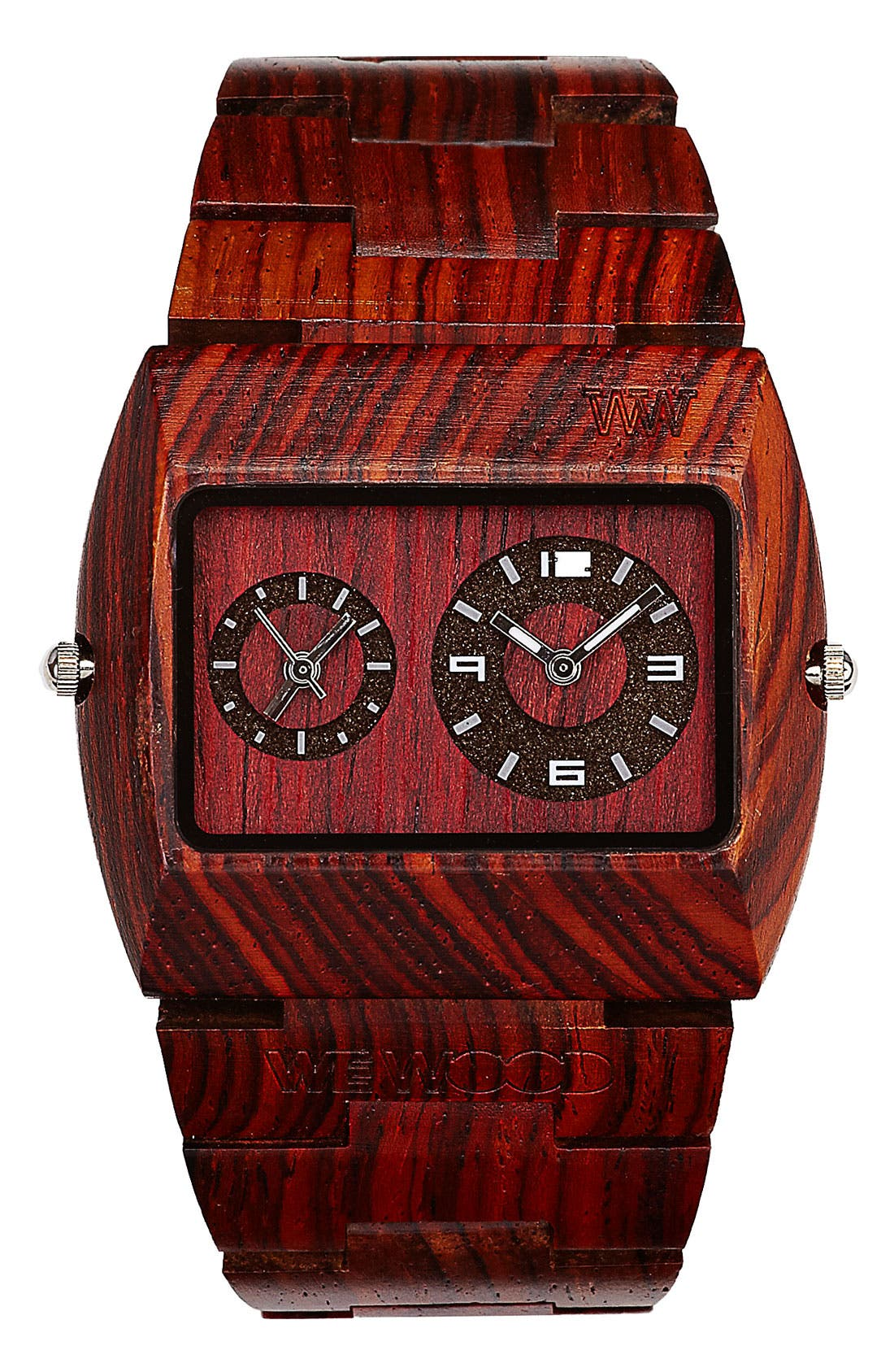 Main Image - WeWOOD 'Jupiter' Wood Watch, 46mm x 39mm