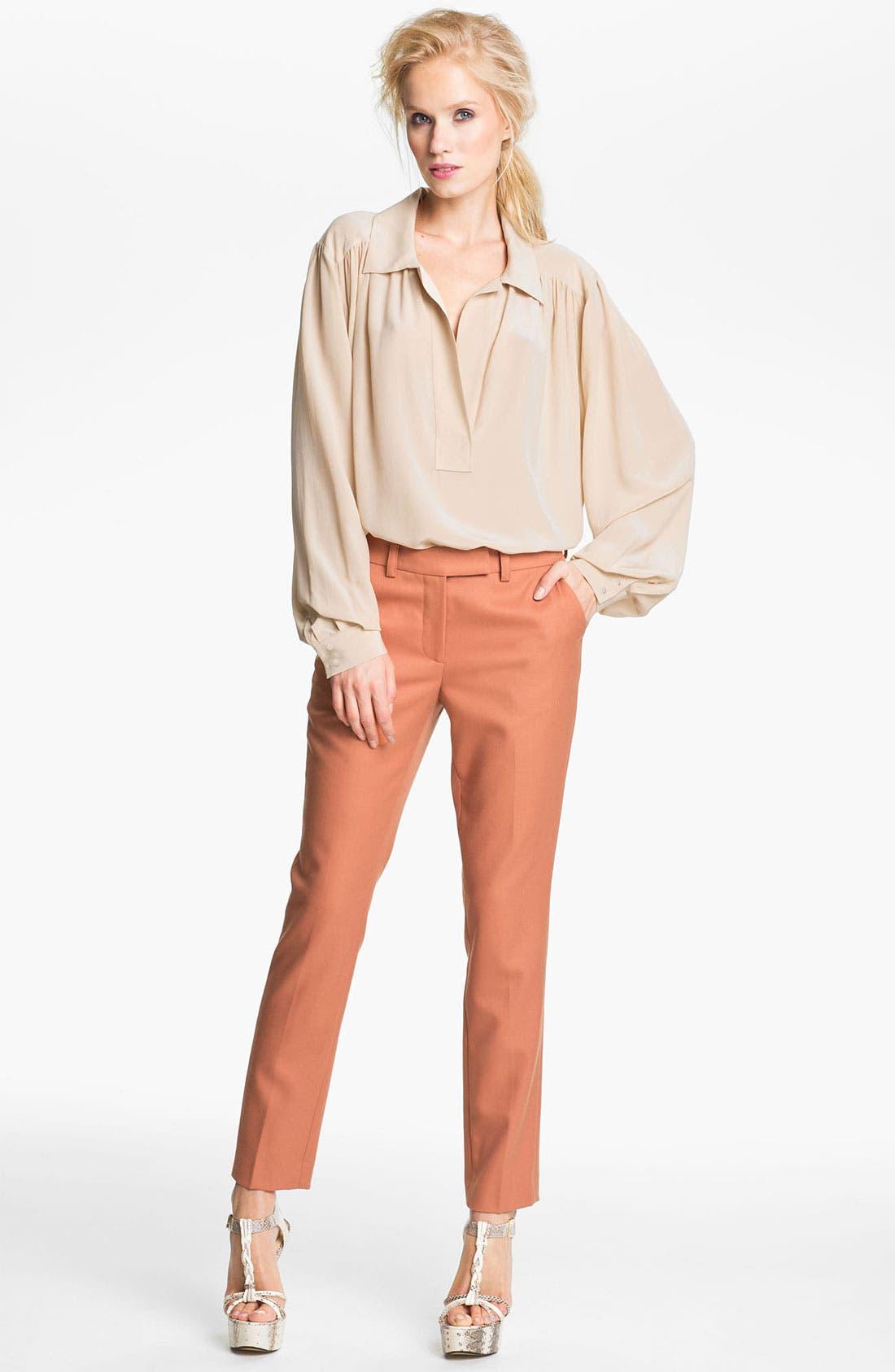 Alternate Image 1 Selected - Rachel Zoe 'Malin' Bishop Sleeve Silk Blouse