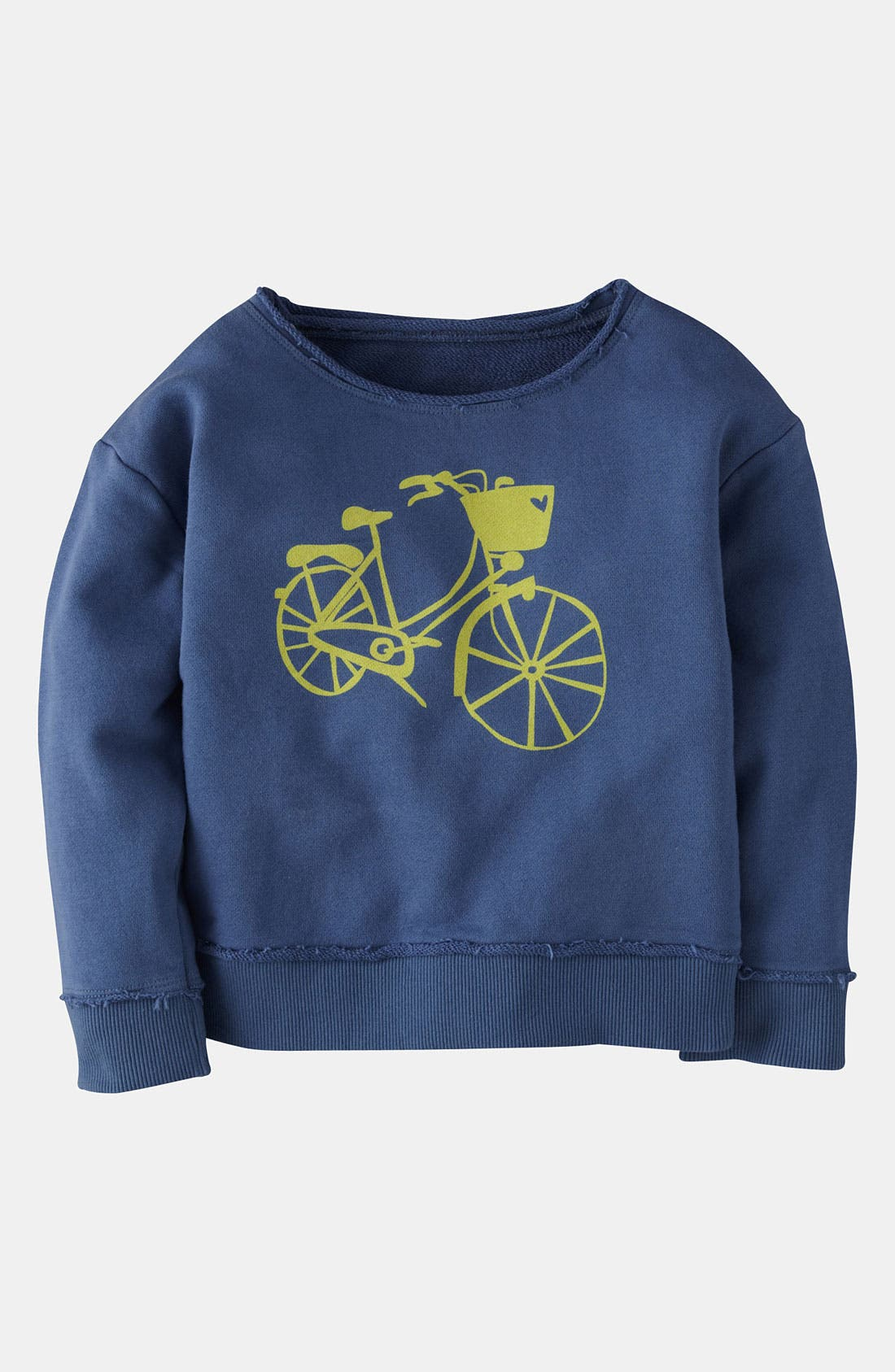 Alternate Image 1 Selected - Mini Boden 'Washed Logo' Sweatshirt (Little Girls & Big Girls)