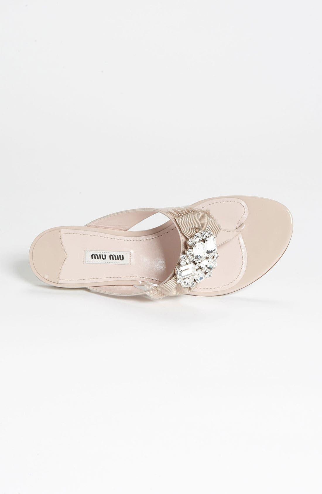 Alternate Image 3  - Miu Miu Crystal Bow Thong Sandal