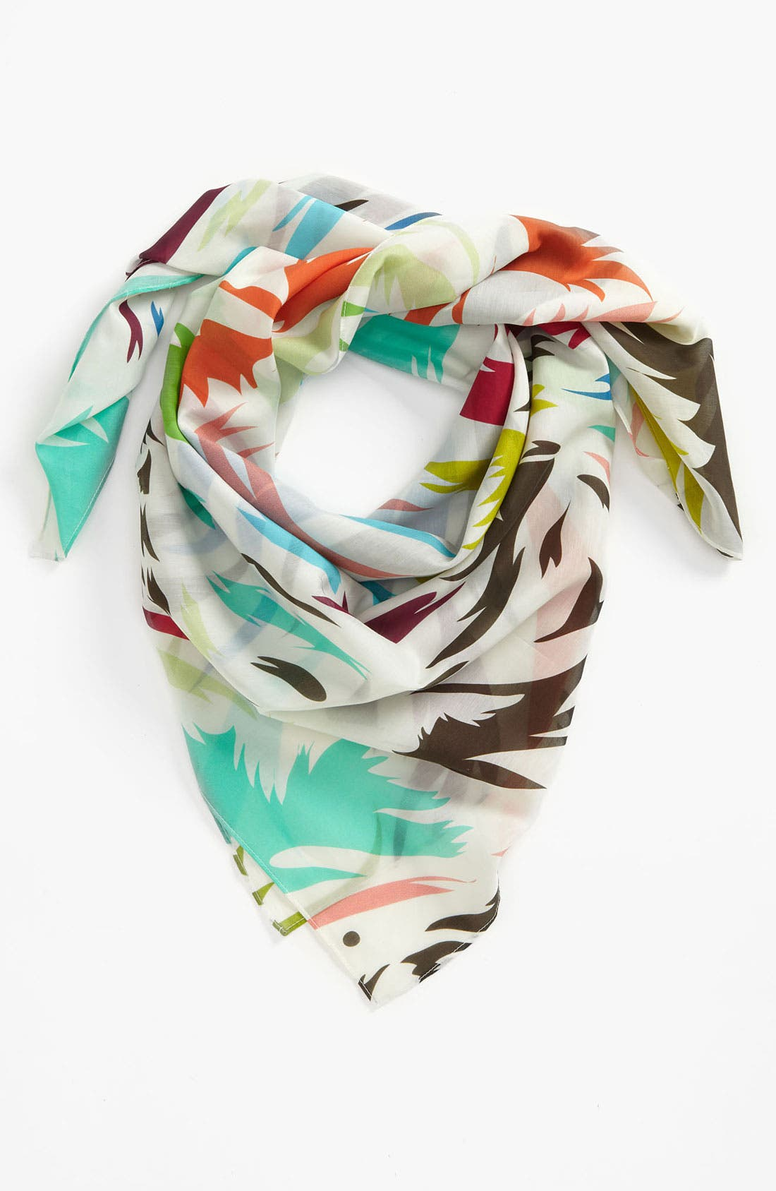Main Image - Front Row Society 'Keep Flowing' Cotton & Silk Scarf
