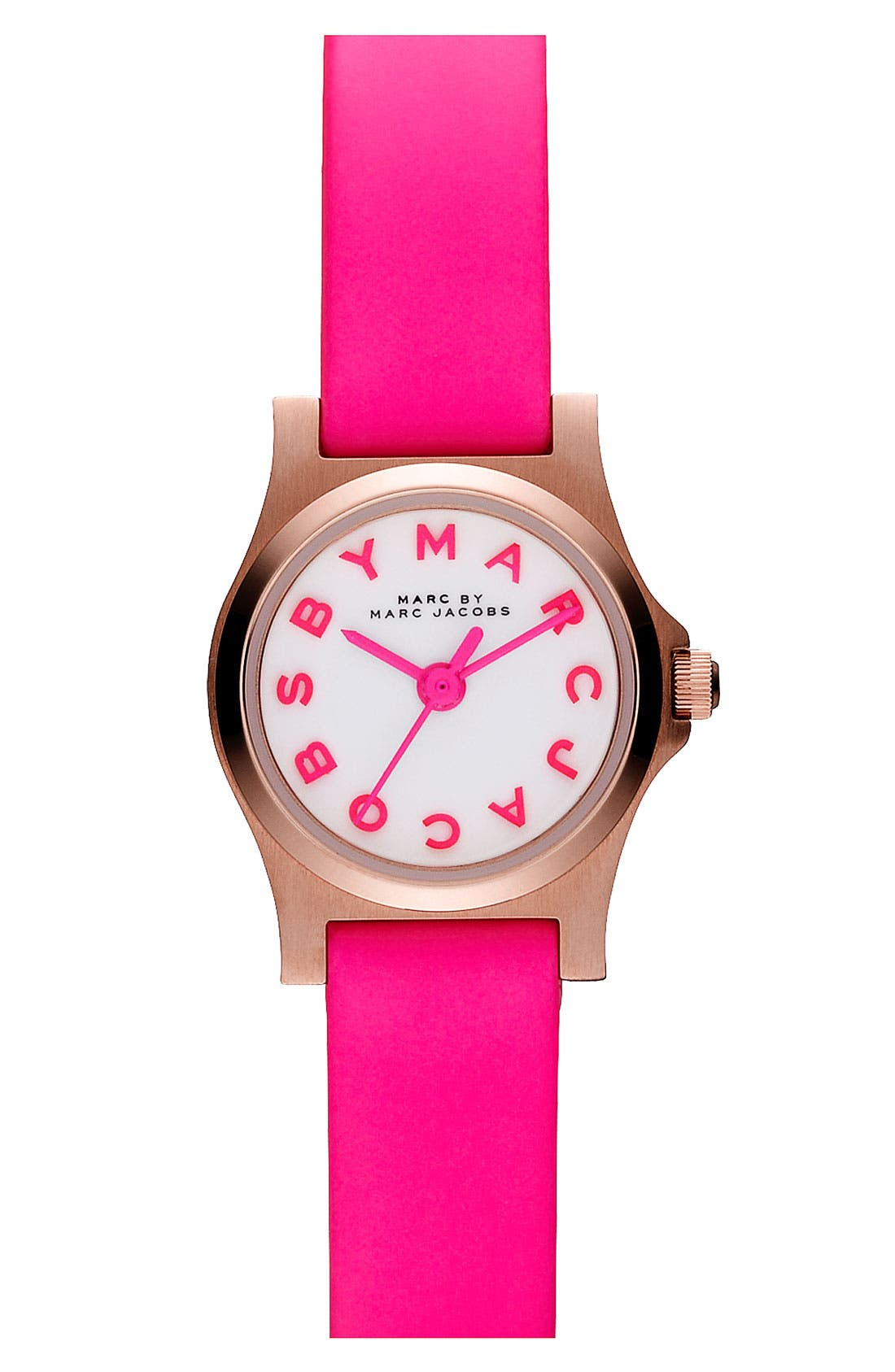 Main Image - MARC JACOBS 'Henry Dinky' Leather Strap Watch, 20mm