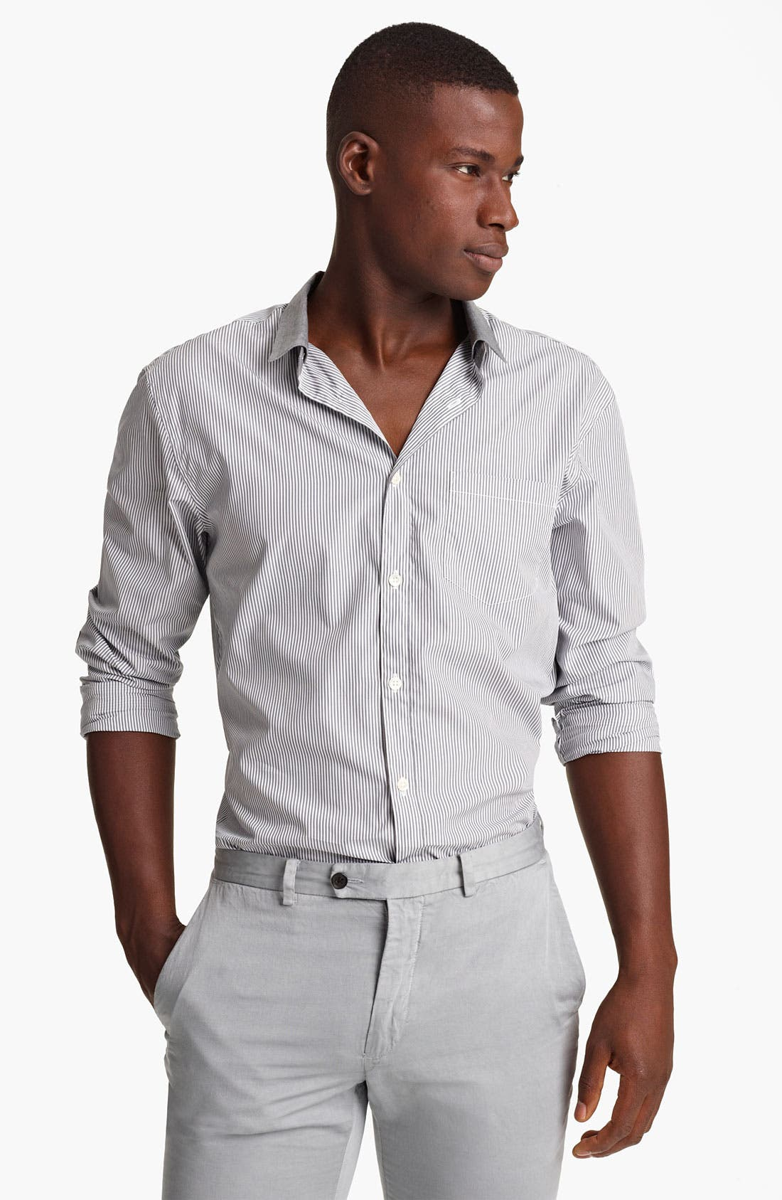 Alternate Image 1 Selected - John Varvatos Collection Stripe Shirt