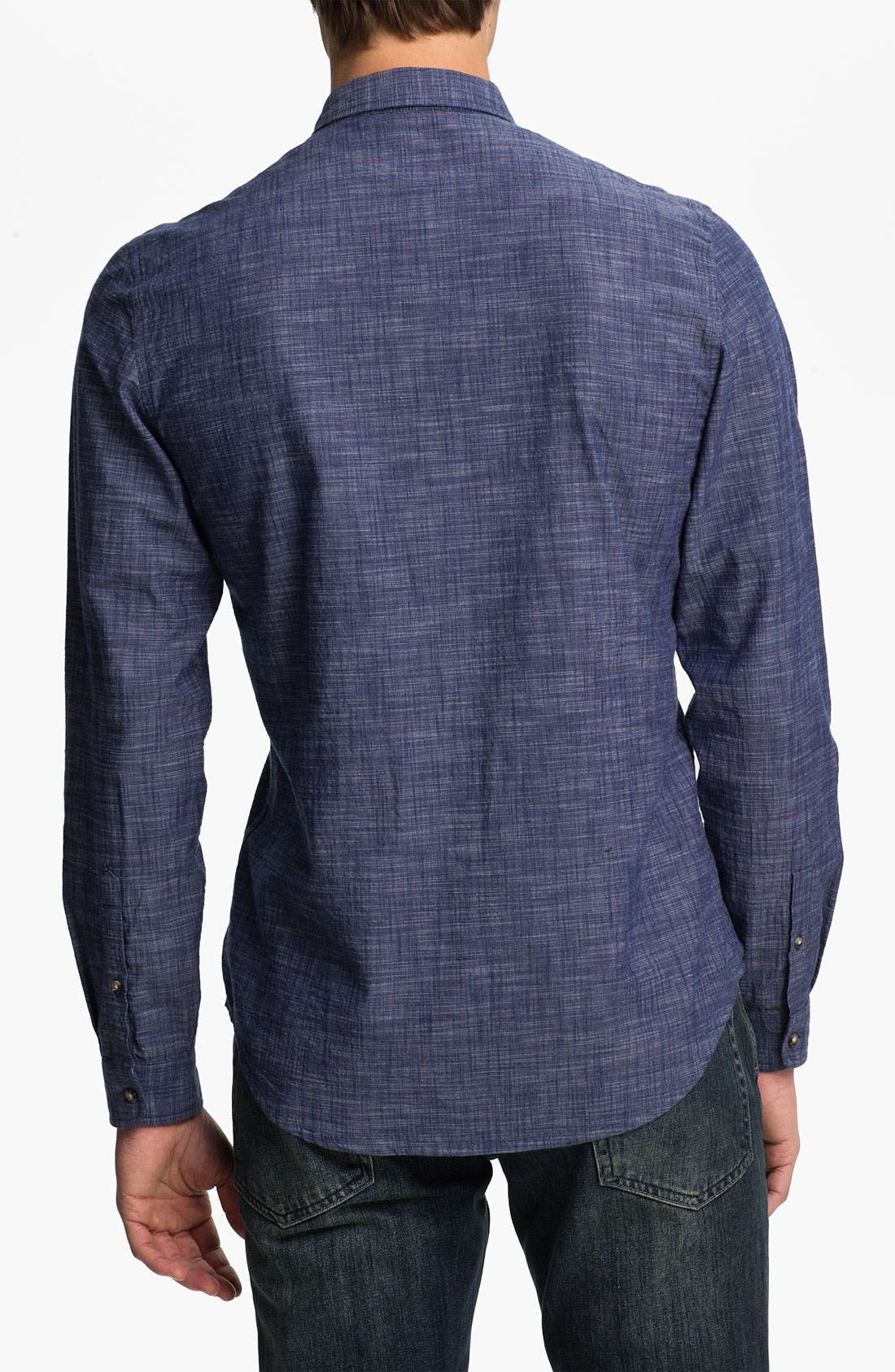 Alternate Image 2  - Topman Slim Fit Chambray Shirt