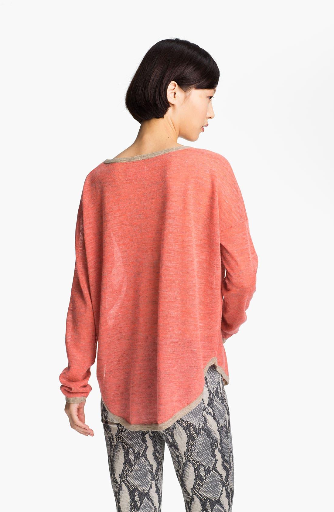 Alternate Image 2  - Zadig & Voltaire 'Kimmi' Contrast Trim Sweater