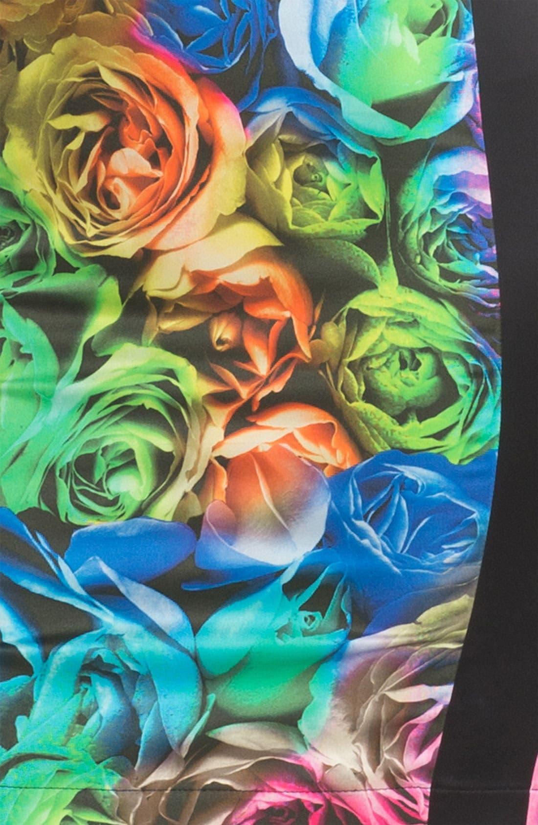 Alternate Image 4  - Just Cavalli Rose Print Sheath Dress
