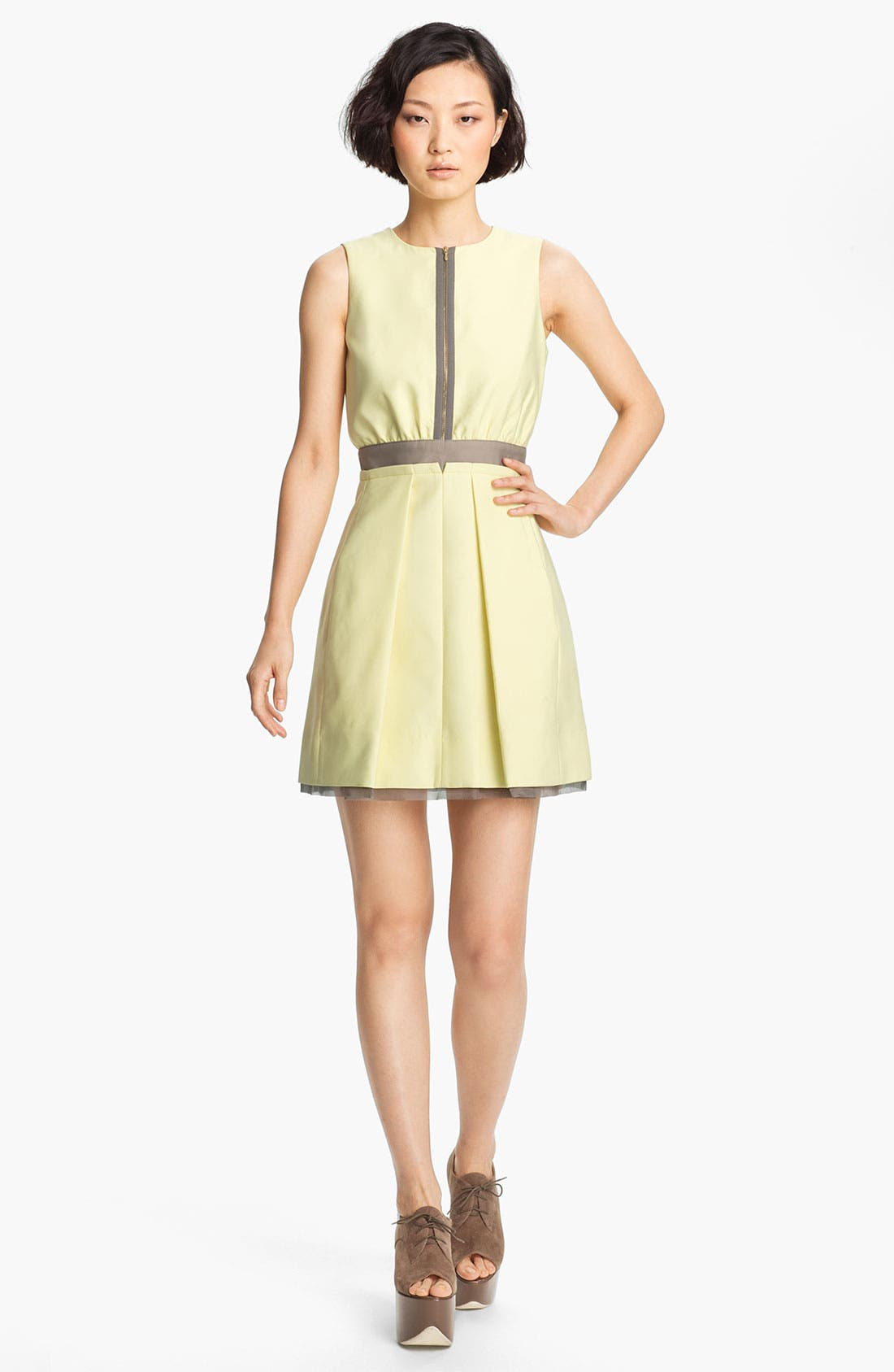 Alternate Image 1 Selected - Victoria, Victoria Beckham 'Dry Scrunch' Zip Front Dress
