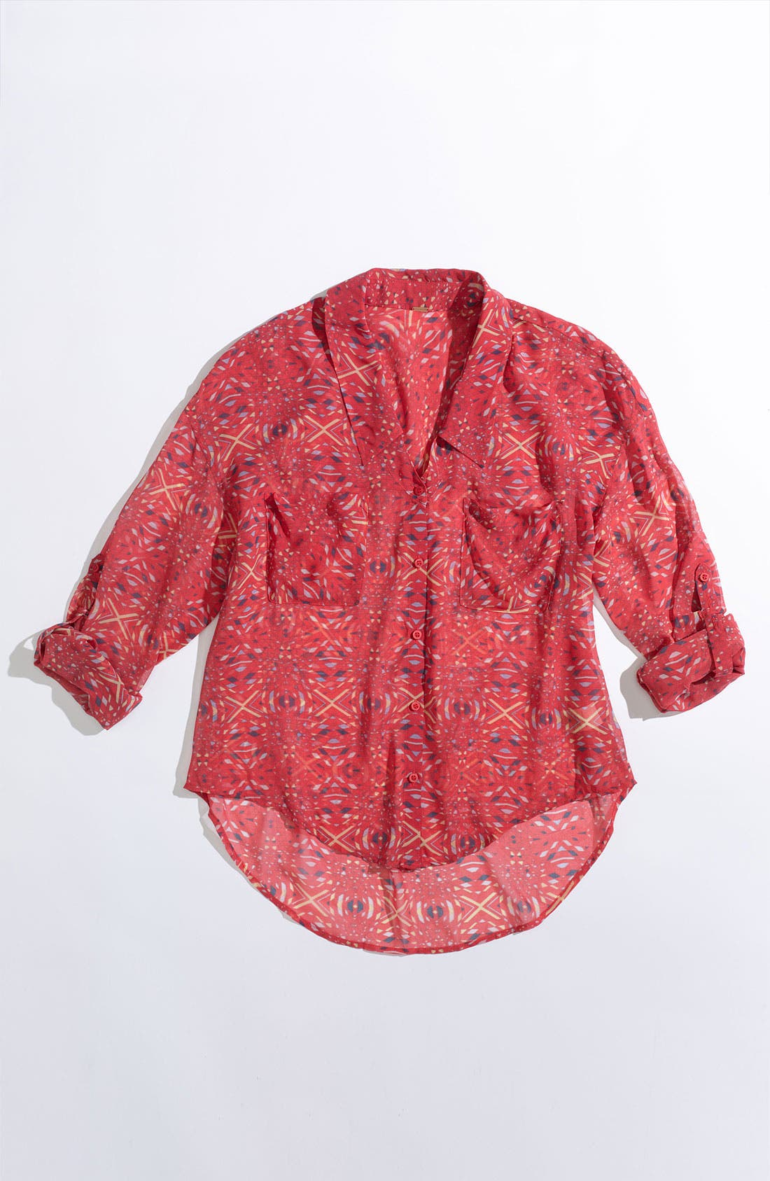 Alternate Image 5  - Free People Kaleidoscope Print Chiffon Shirt